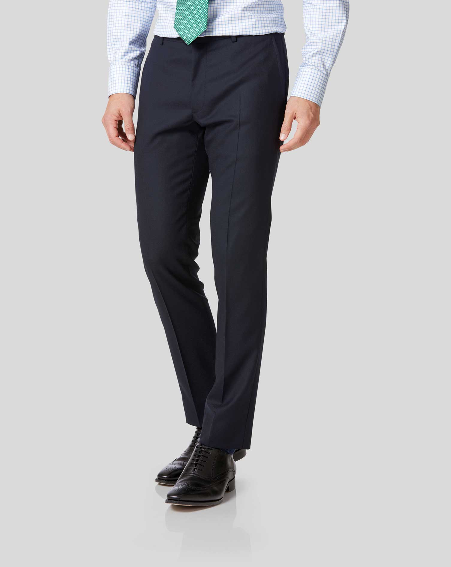 Midnight blue extra slim fit merino business suit pants