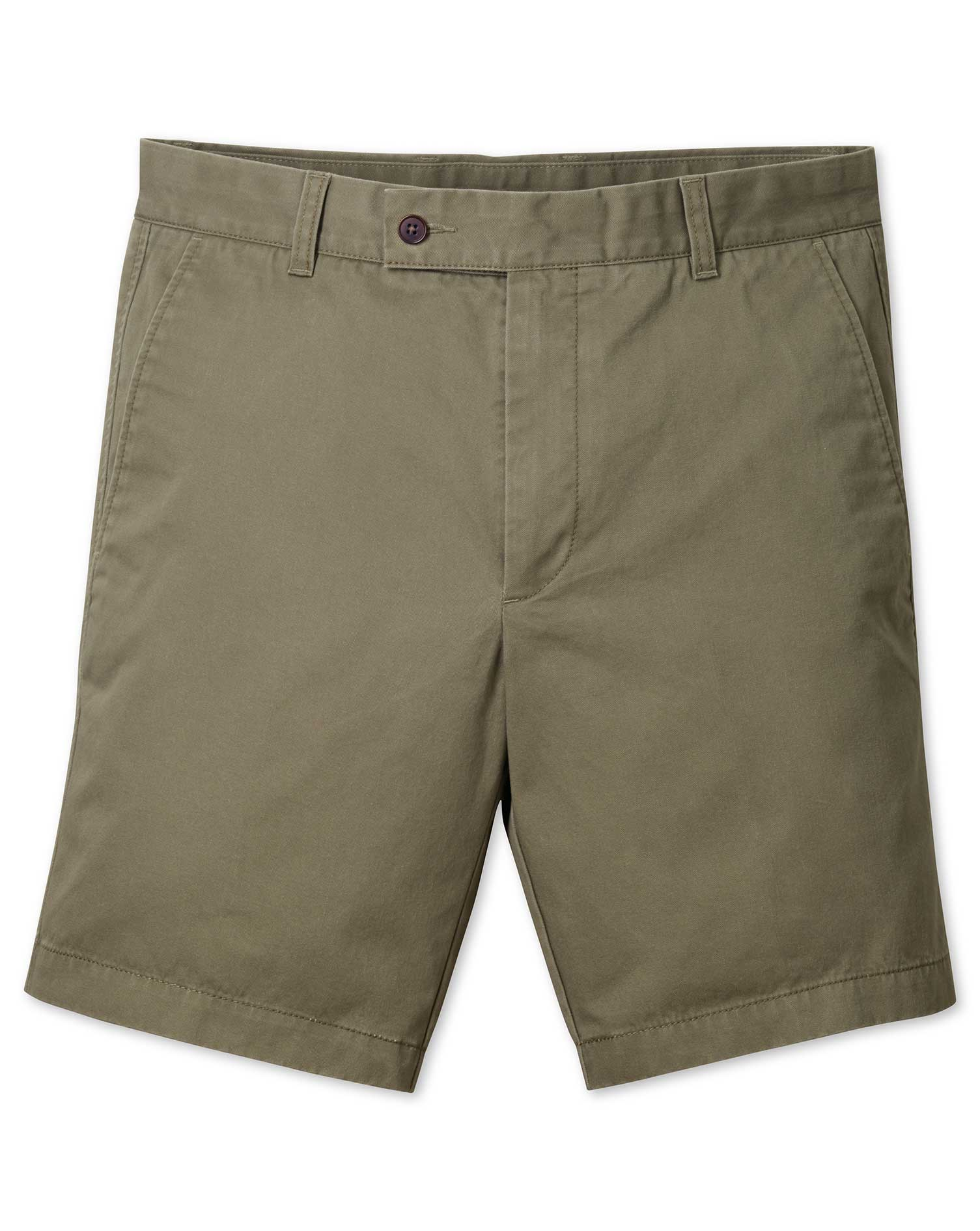 Khaki Chino Cotton Shorts Size 34 by Charles Tyrwhitt