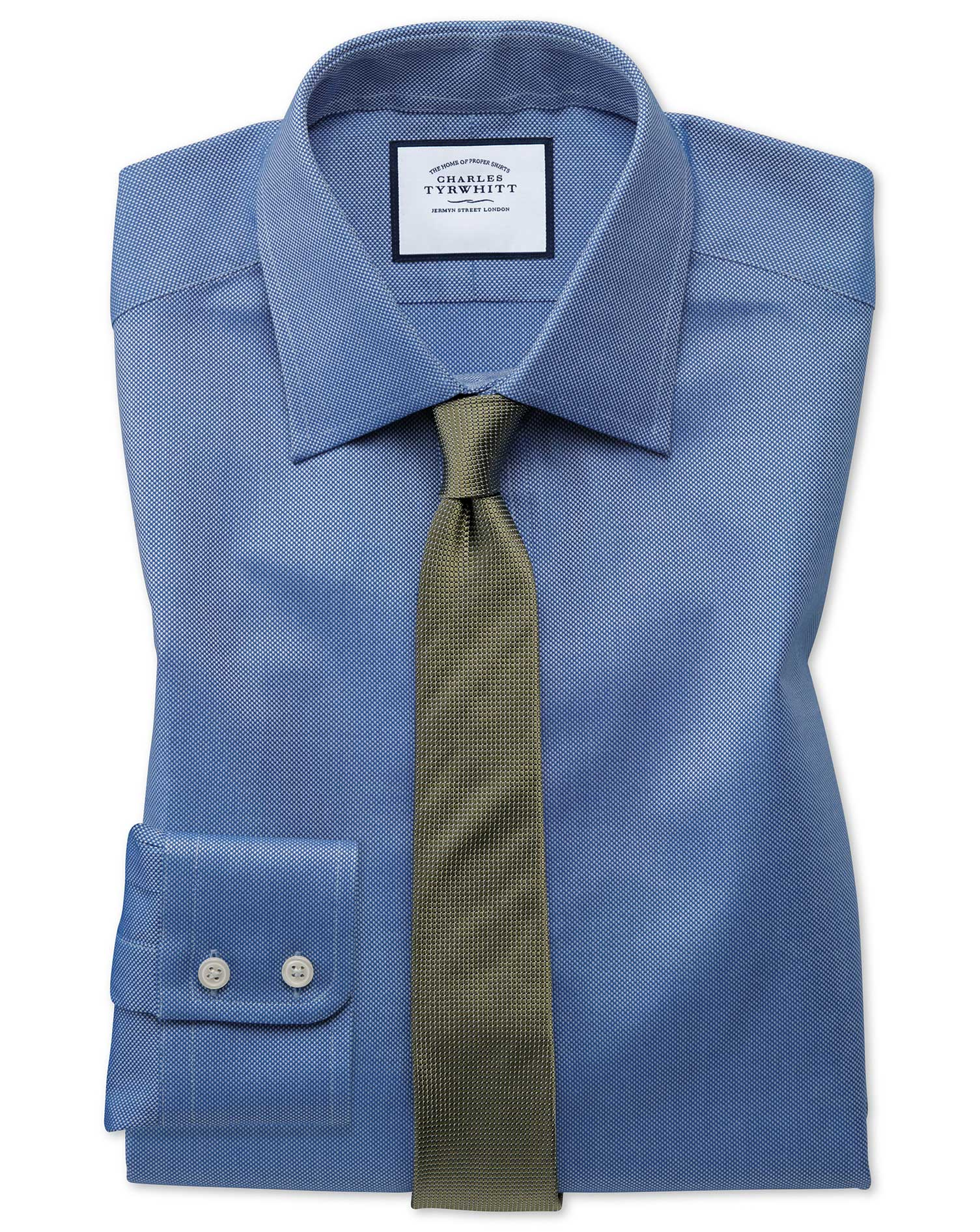 Extra Slim Fit Egyptian Cotton Royal Oxford Royal Formal Shirt Single Cuff Size 14.5/32 by Charles T