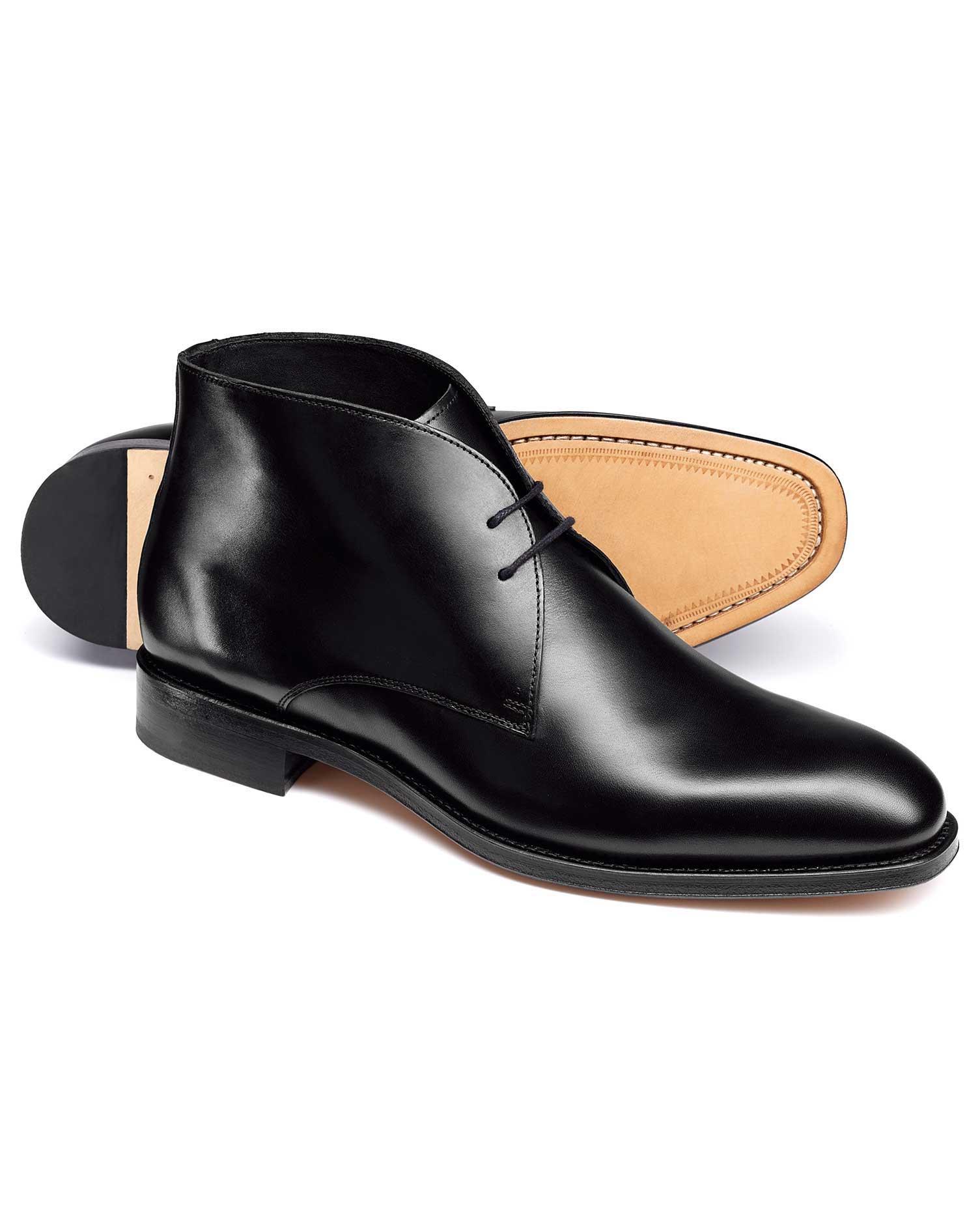 Black Chukka Boot Size 7.5 R by Charles Tyrwhitt