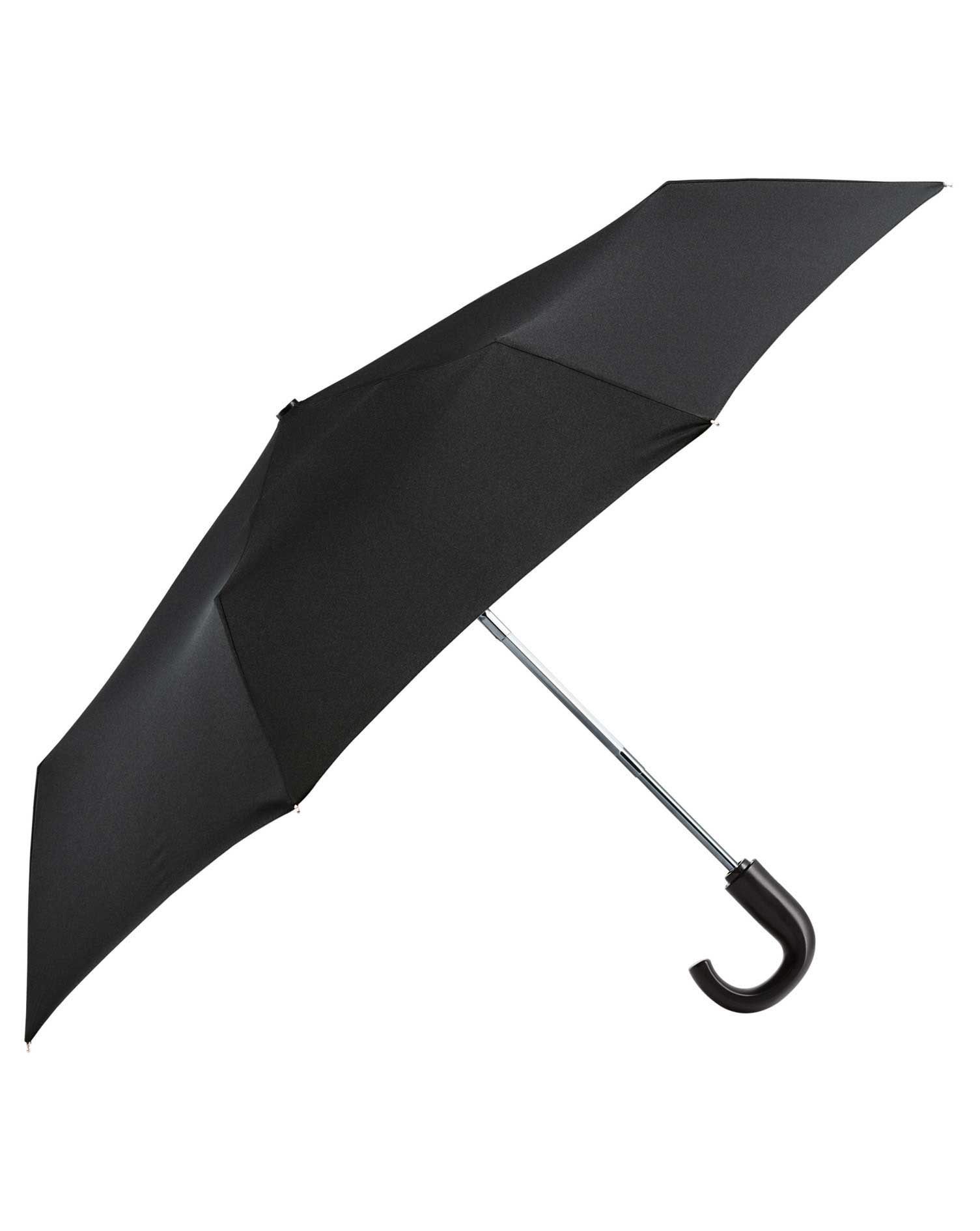 Black Automatic Compact Umbrella by Charles Tyrwhitt