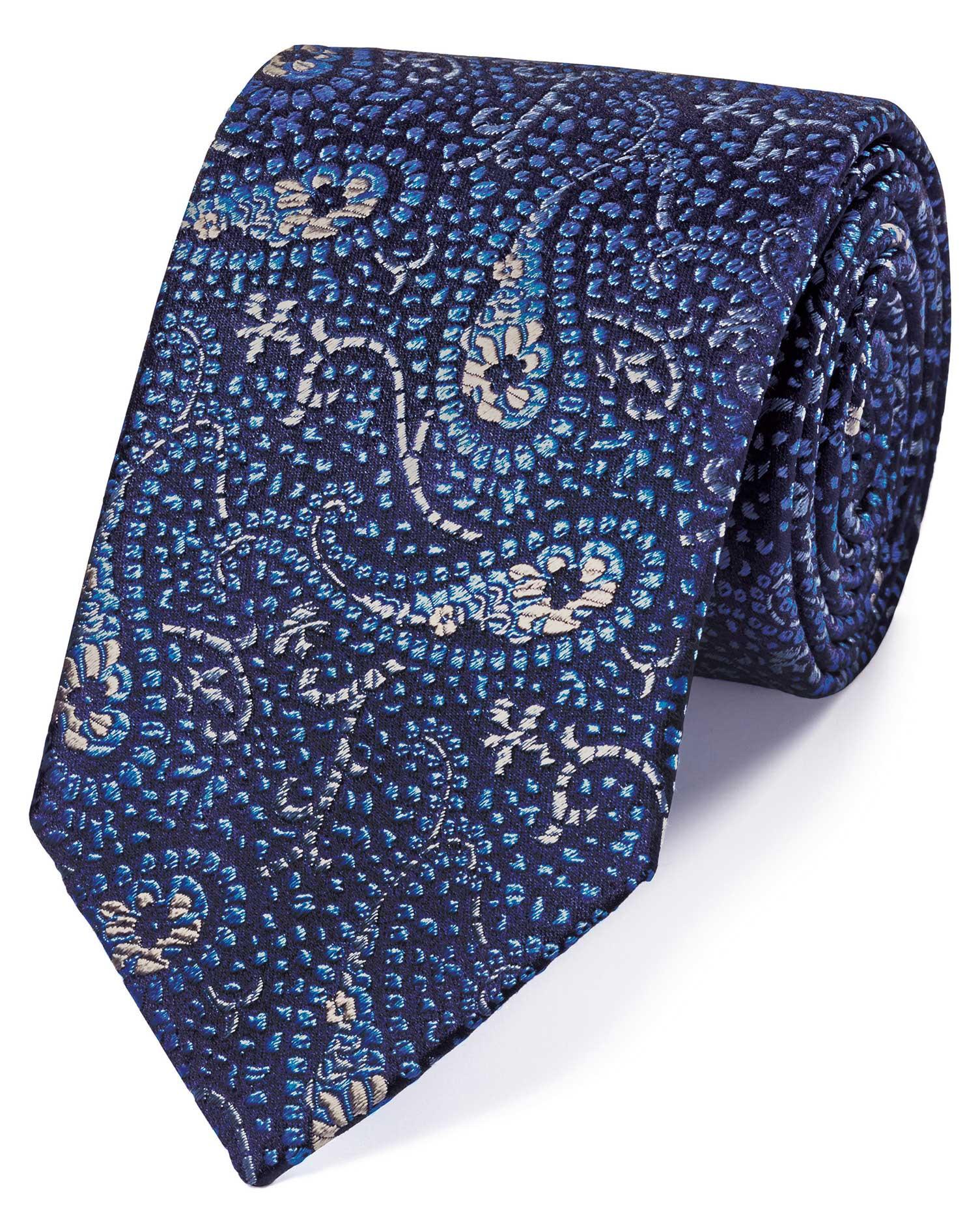Corbata De Alta Gama Azul Celeste De Seda Y Confeccion Inglesa Con - Gama-de-azul