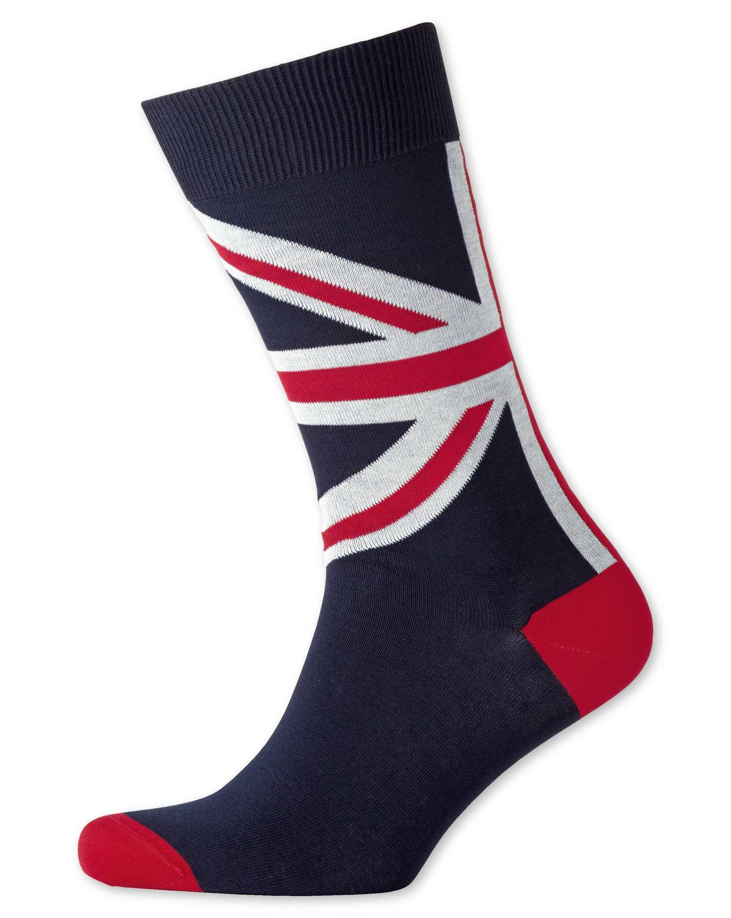 Navy Union Jack Socks Size Medium by Charles Tyrwhitt