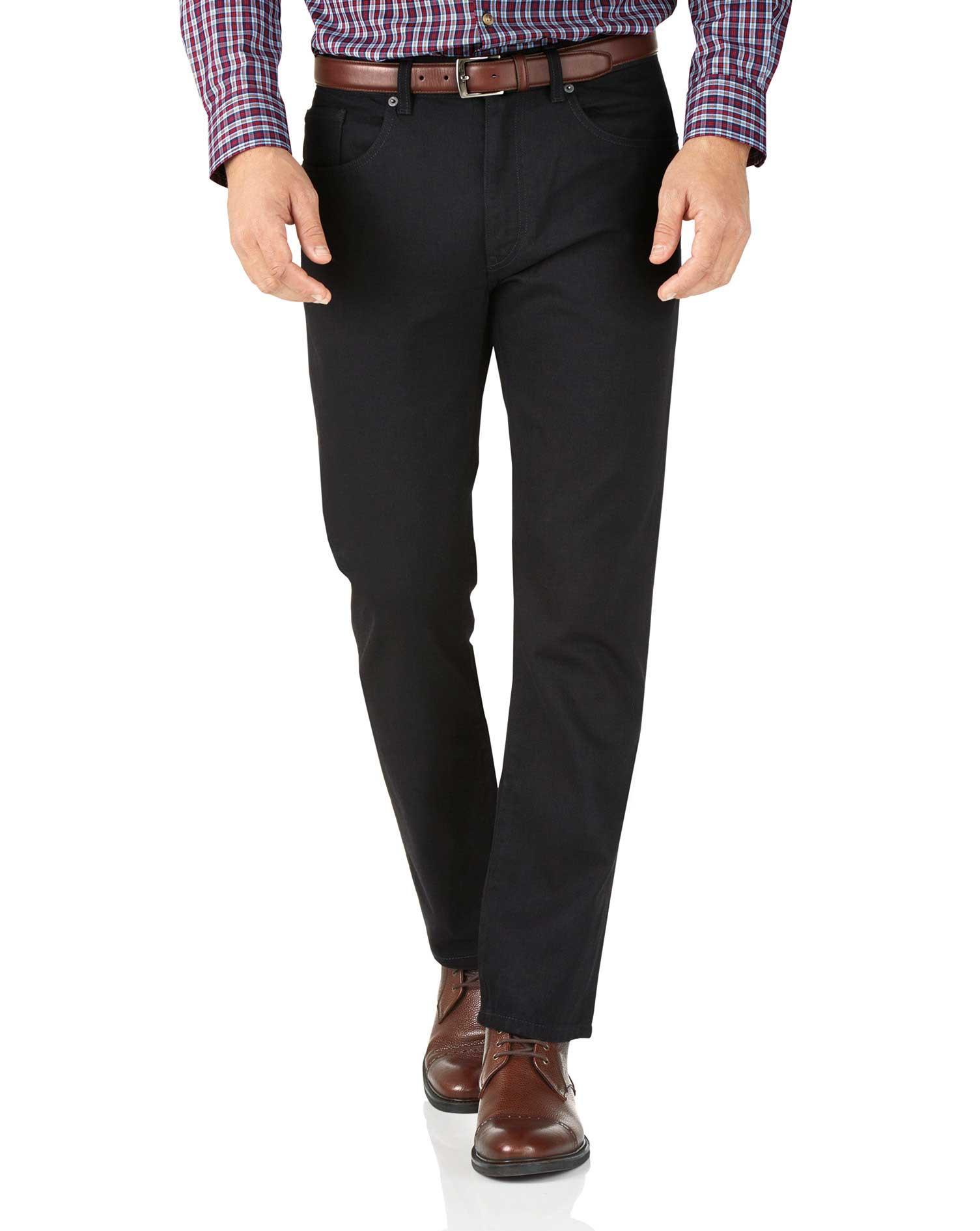 Black Slim Fit 5 Pocket Jeans Size W38 L34 by Charles Tyrwhitt