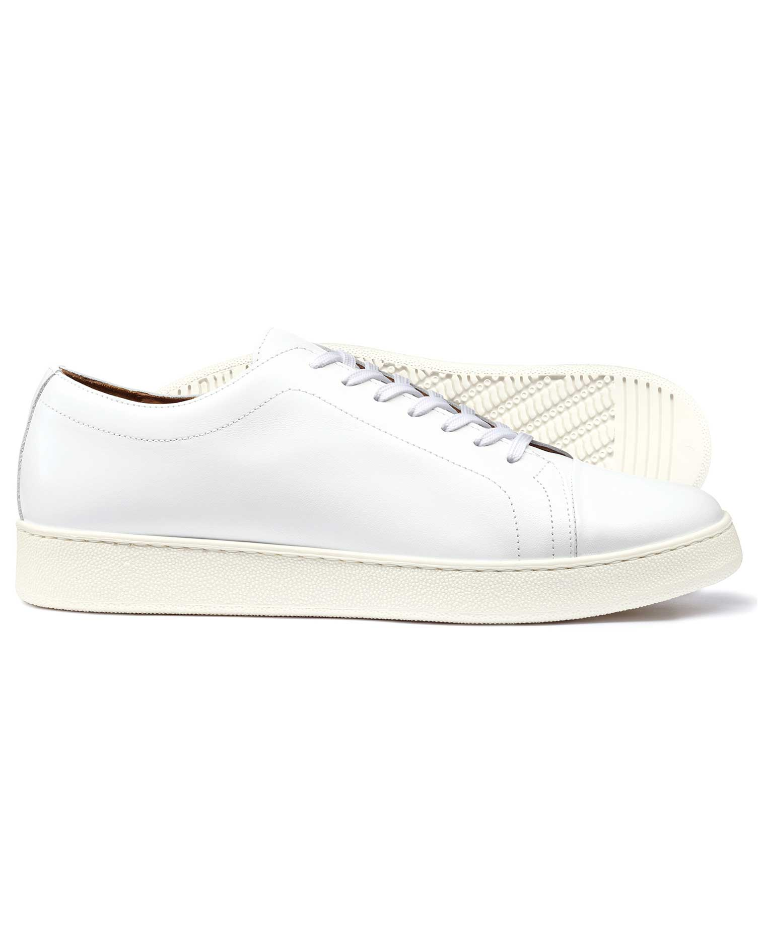 White Trainers Size 7 R by Charles Tyrwhitt