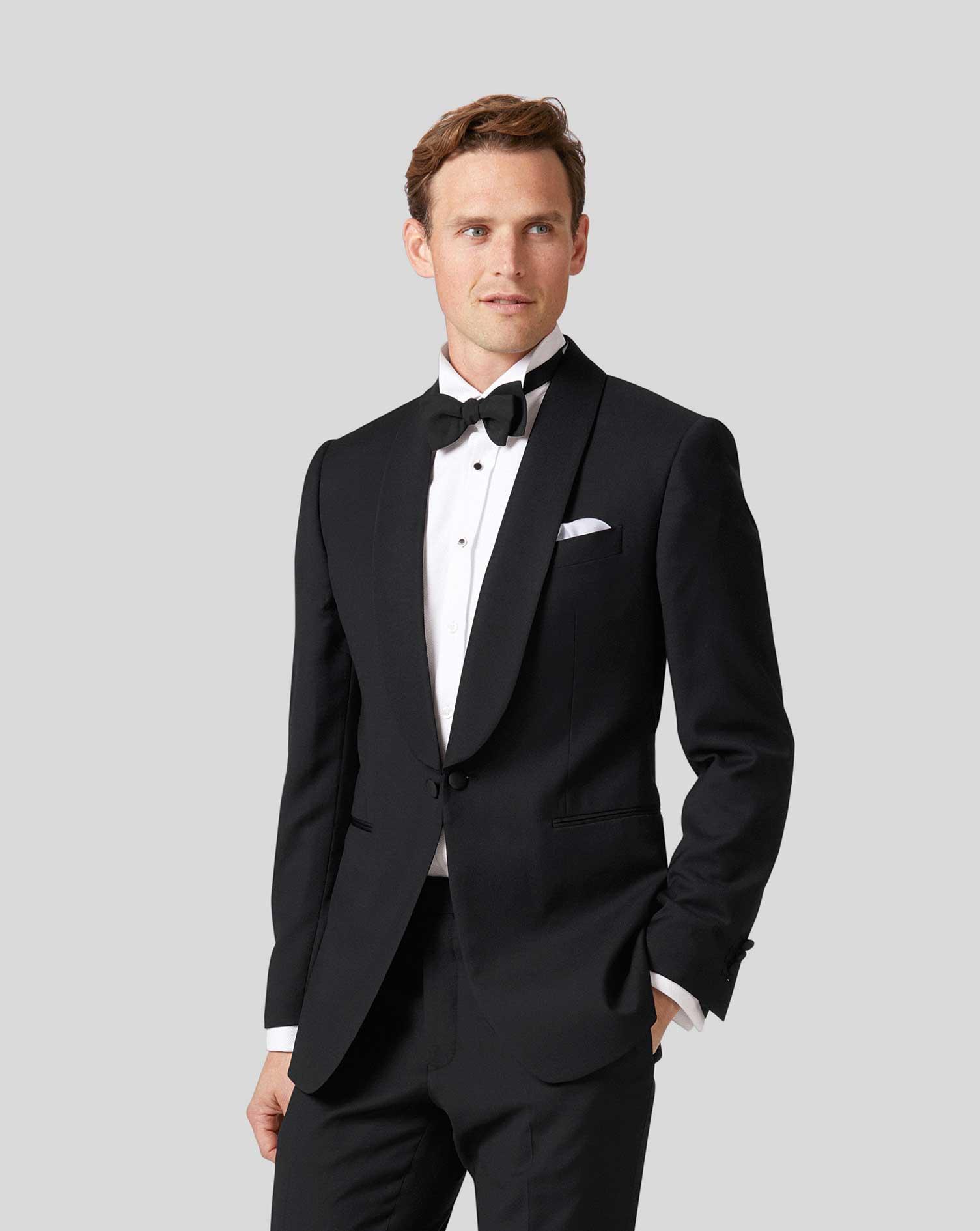 Wool Black Extra Slim Fit Dinner Suit Jacket
