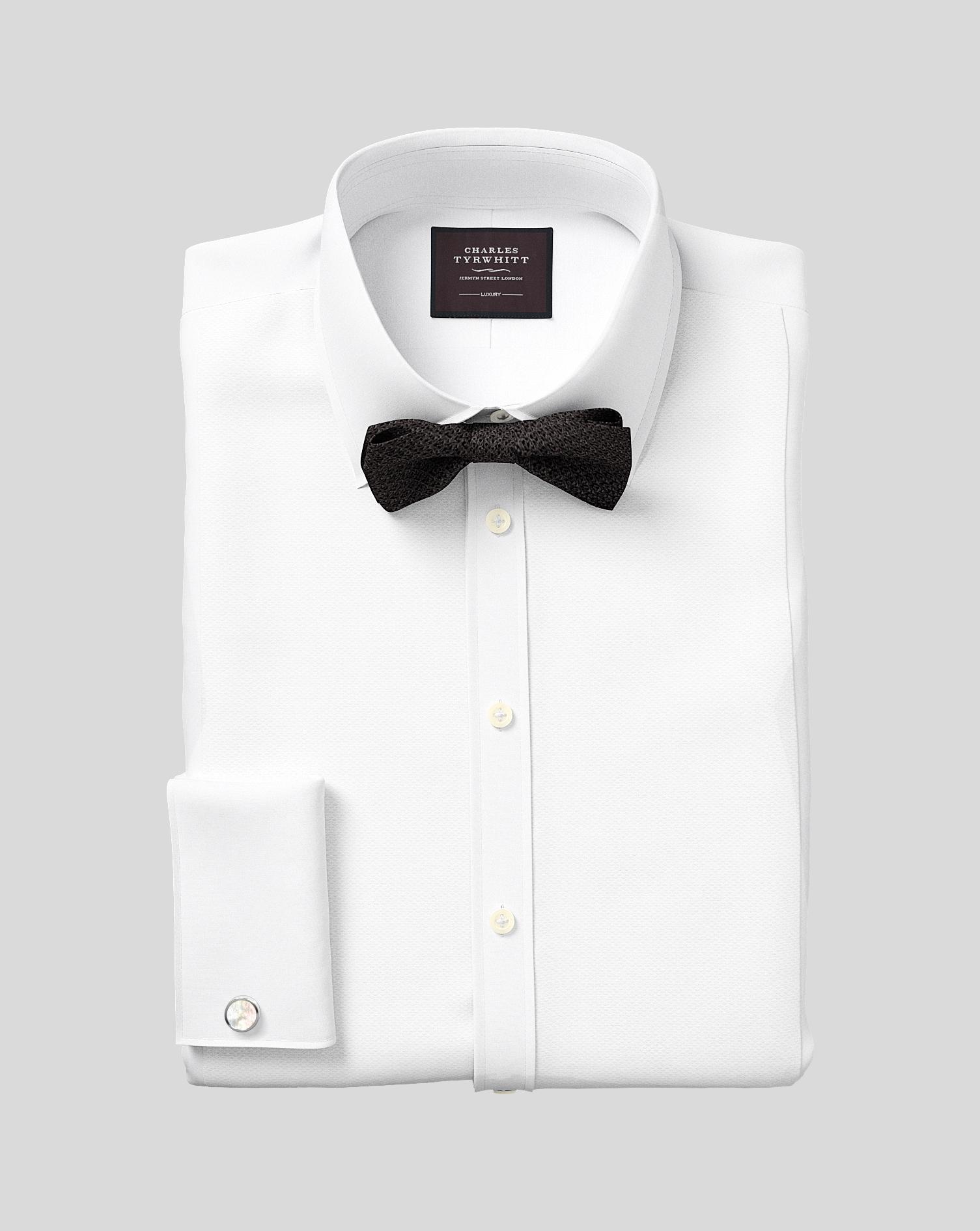 Extra slim fit luxury marcella bib front white tuxedo for Extra slim tuxedo shirt