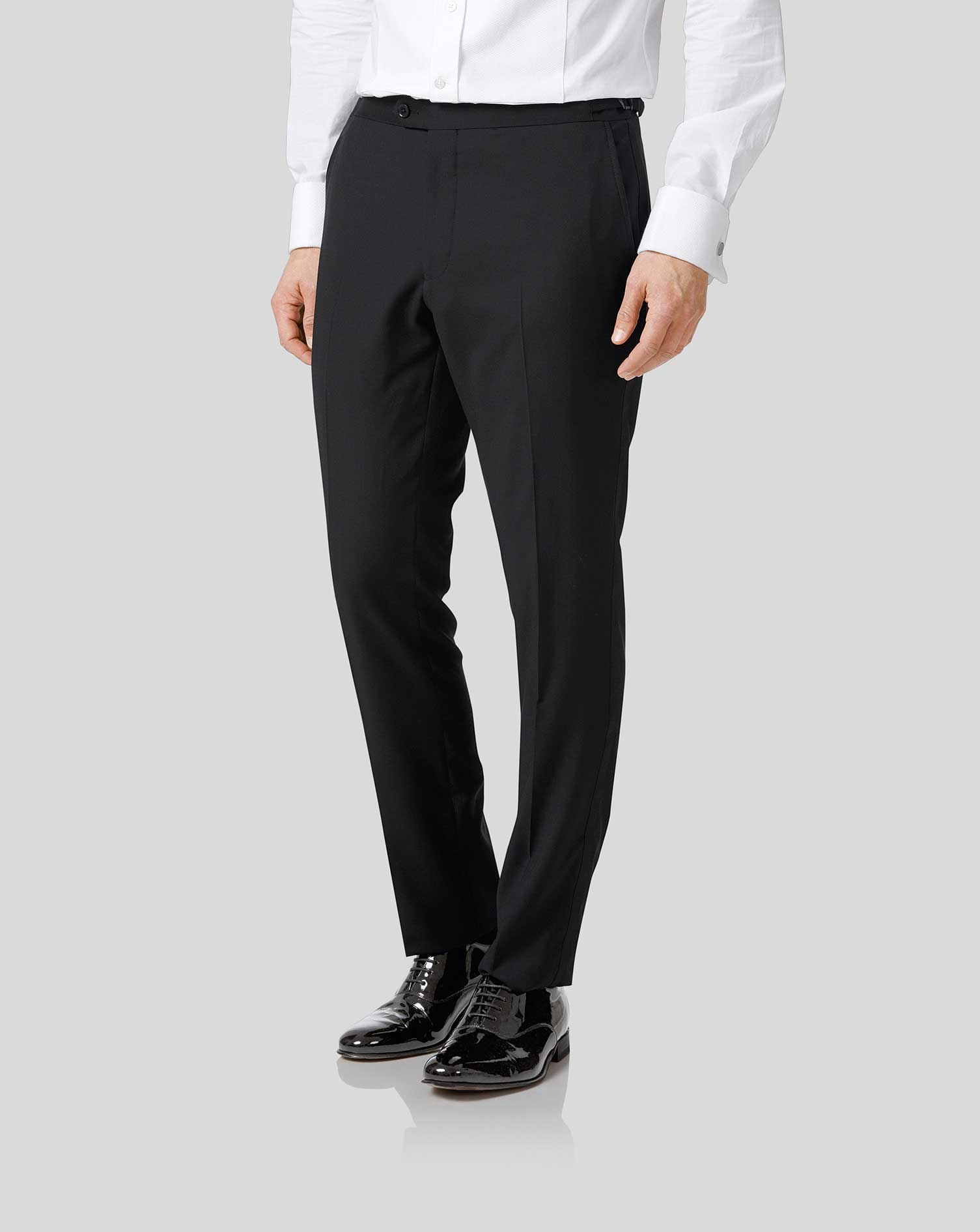 Black extra slim fit dinner suit pants