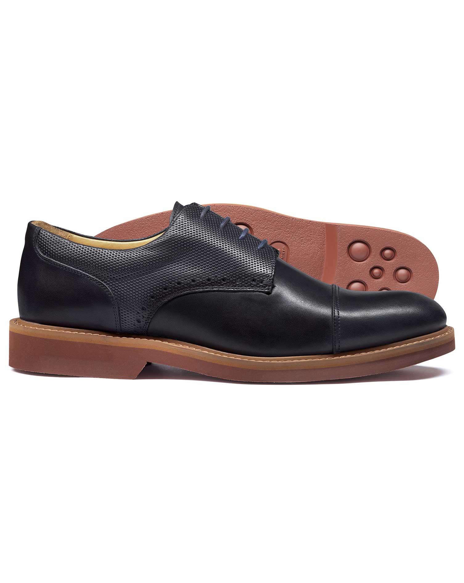 Navy Extra Lightweight Derby Shoe Size 7 R by Charles Tyrwhitt