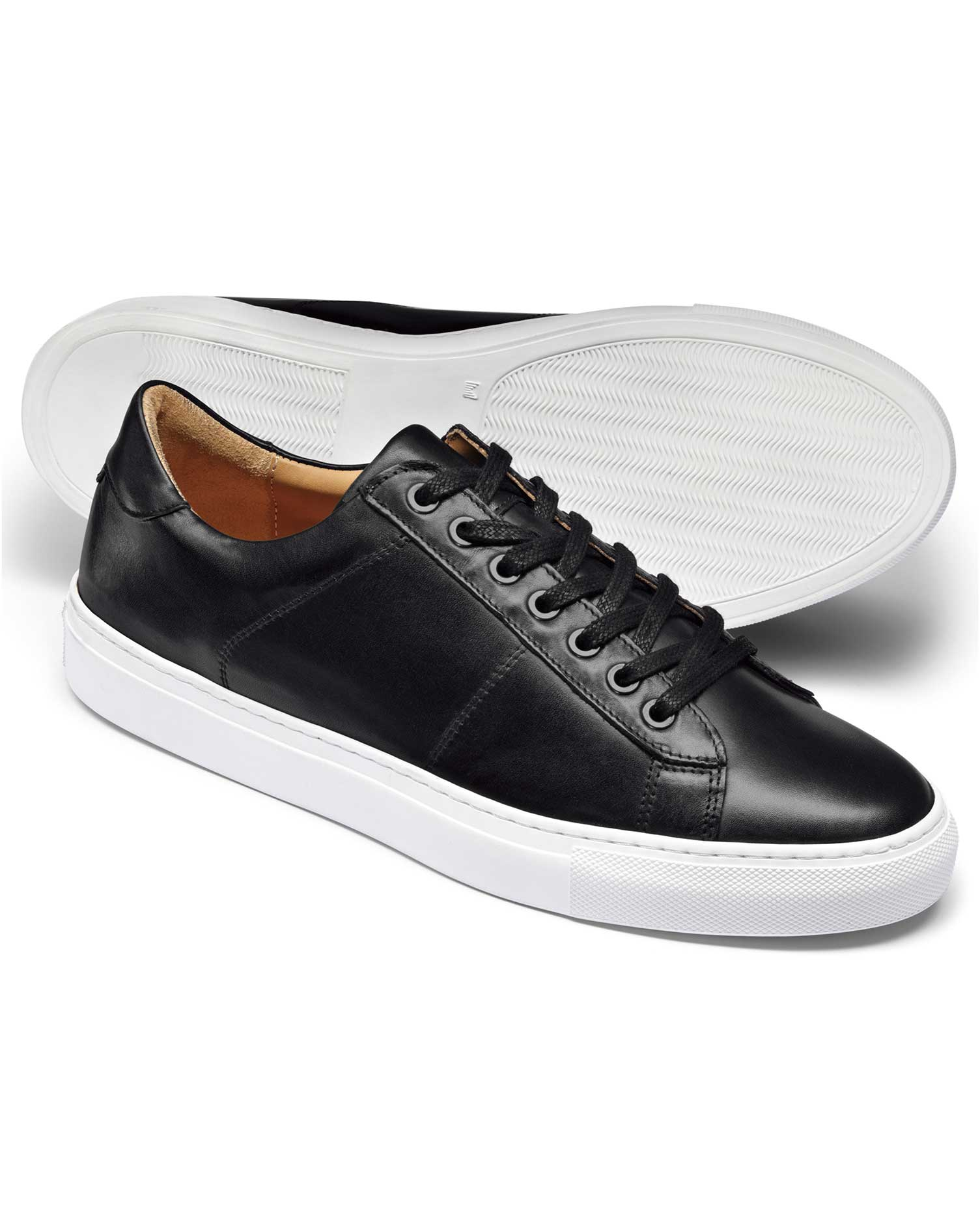 black leather sneakers size 13 by charles tyrwhitt