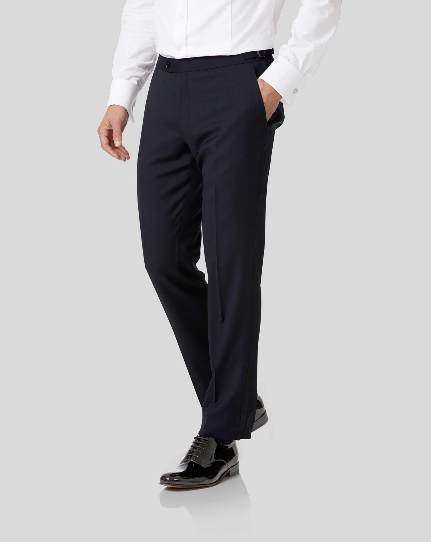 Midnight Blue Slim Fit Tuxedo Trousers Size W36 L32 by Charles Tyrwhitt