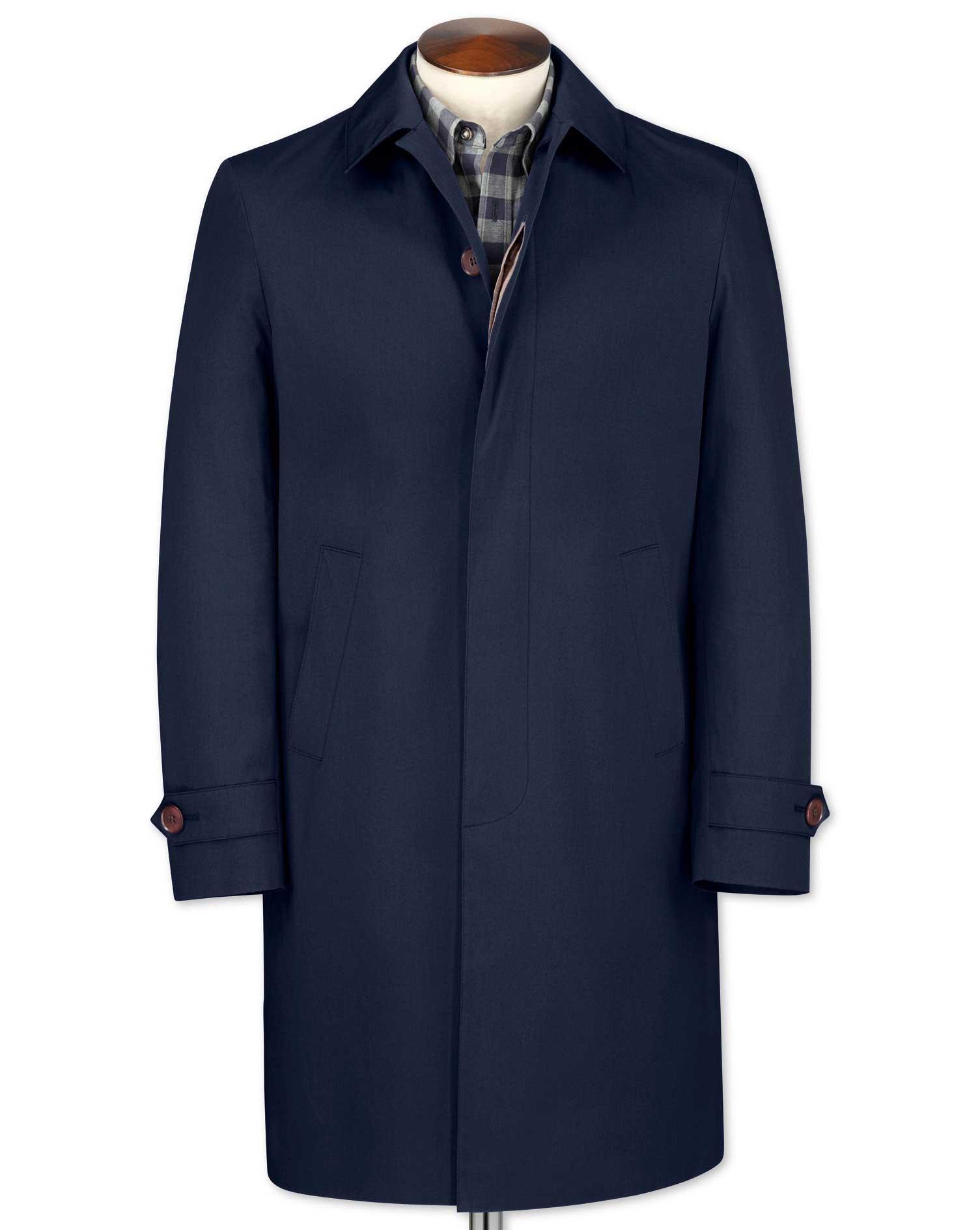 Slim fit blue raincoat   Charles Tyrwhitt
