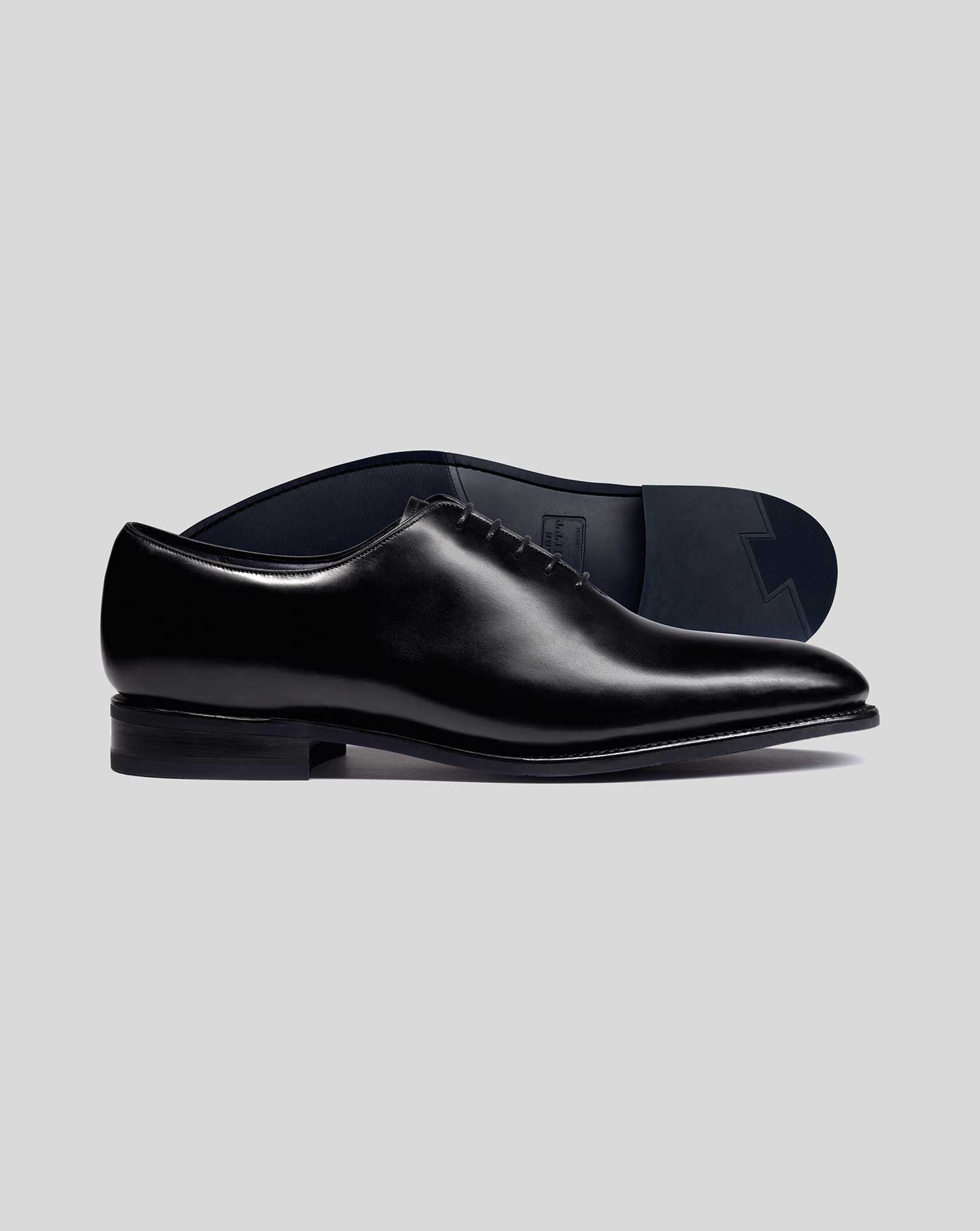 Black Goodyear Welted Wholecut Performance Shoe Size 6 R by Charles Tyrwhitt