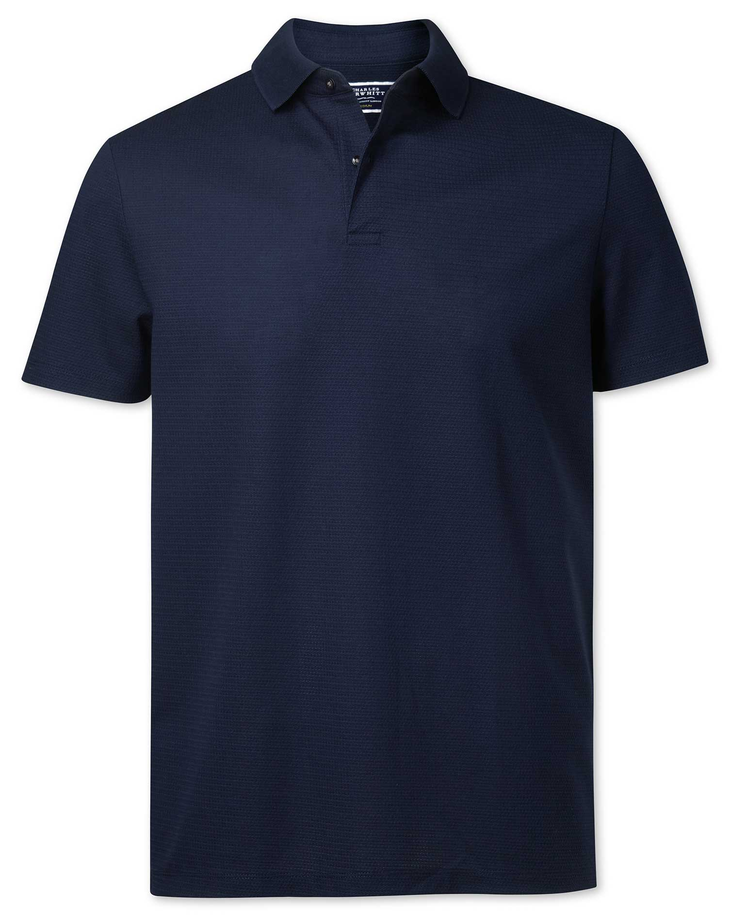 Navy Aircool Cotton Polo Size XS by Charles Tyrwhitt