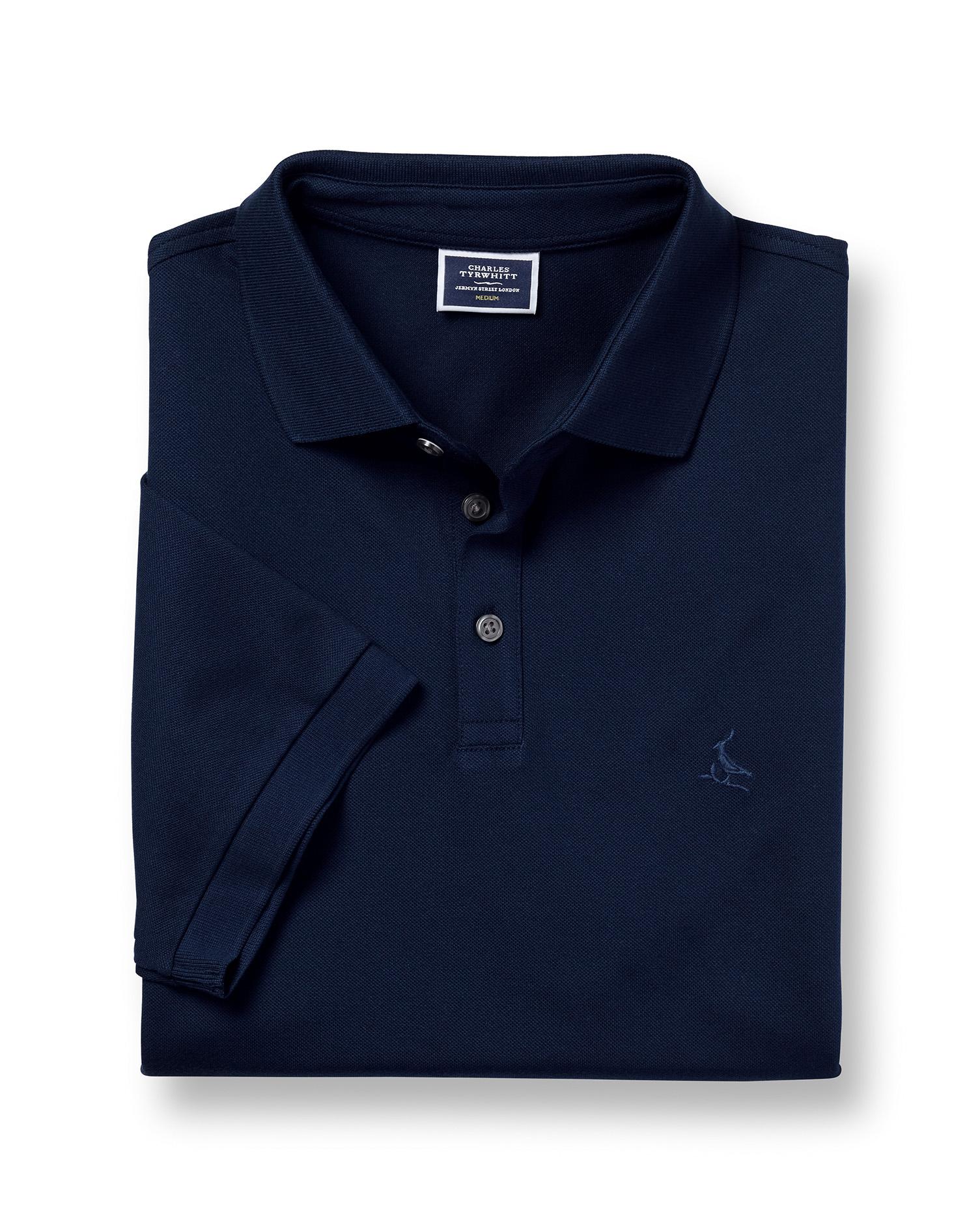 Polo Tyrwhitt En Piqué - Bleu Marine - XXXL par Charles Tyrwhitt