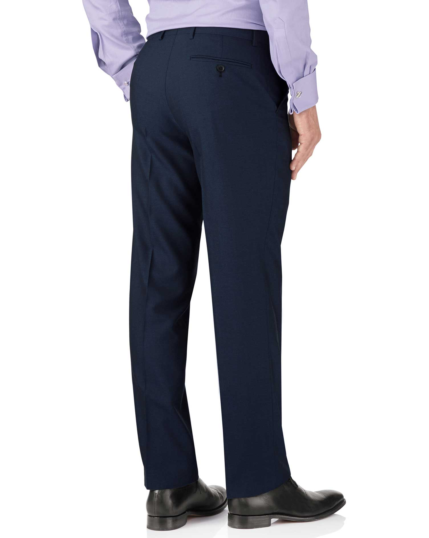 Blue slim fit British Panama luxury suit pants