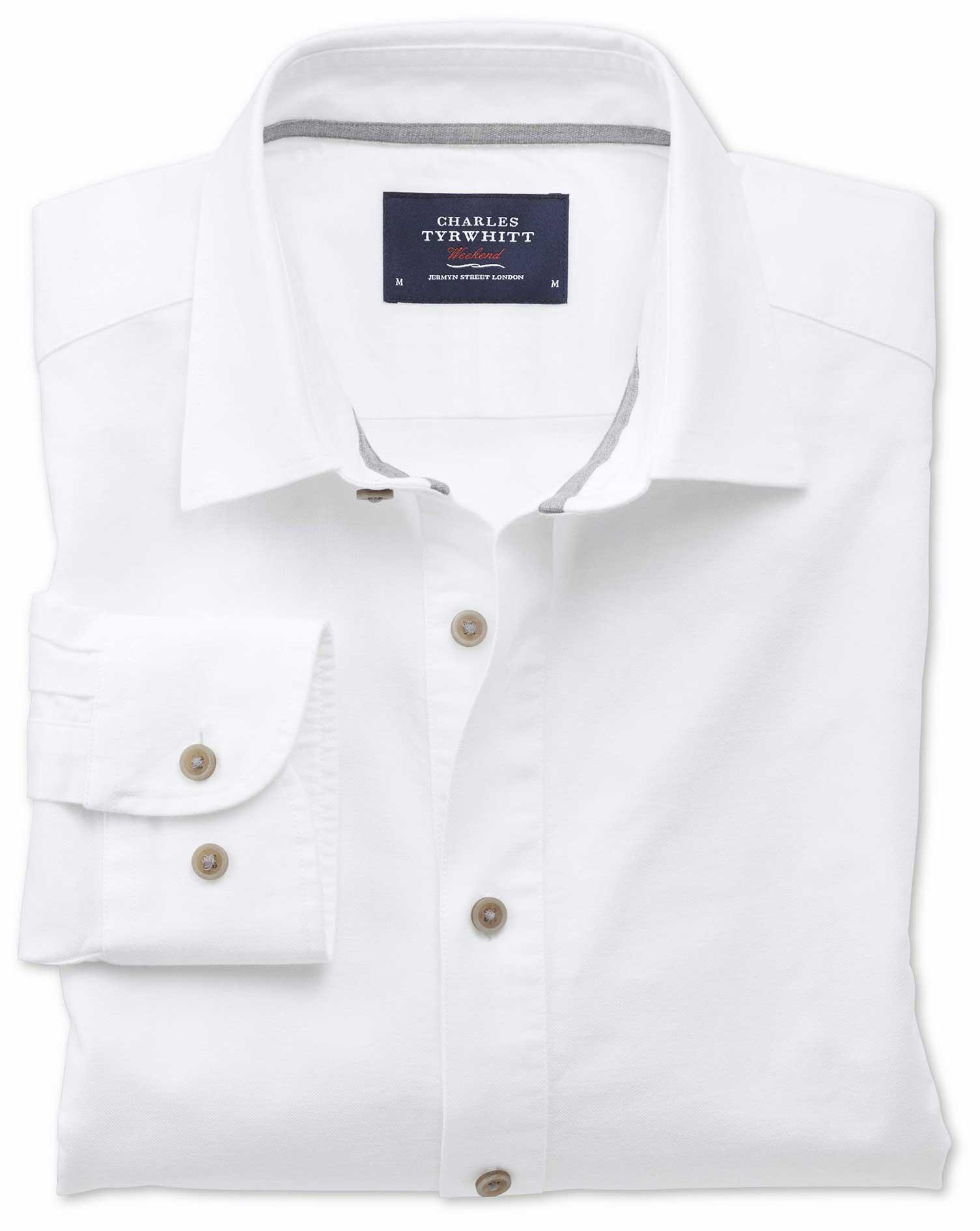 Slim Fit Spread Collar Popover White Shirt Charles Tyrwhitt