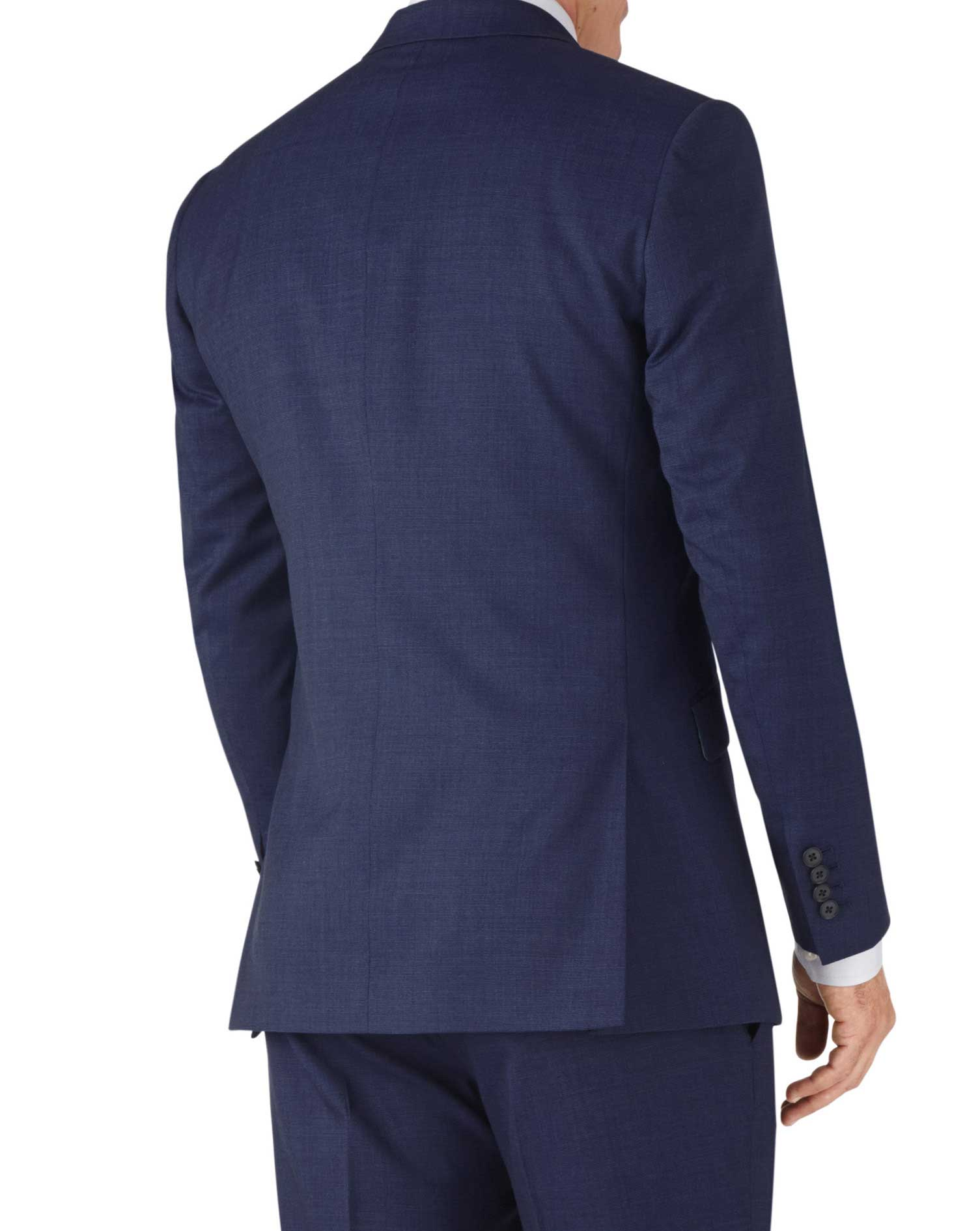 Indigo slim fit end-on-end business suit jacket