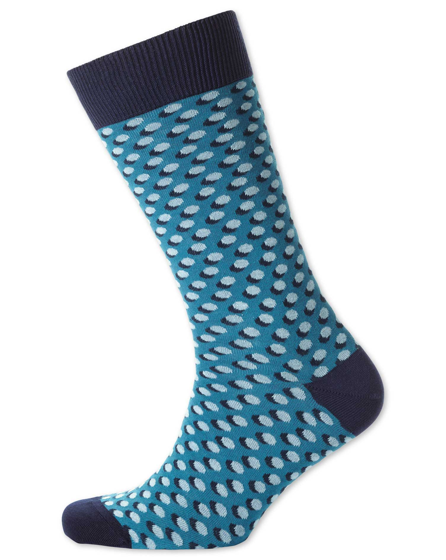 blue shadow spot socks size medium by charles tyrwhitt