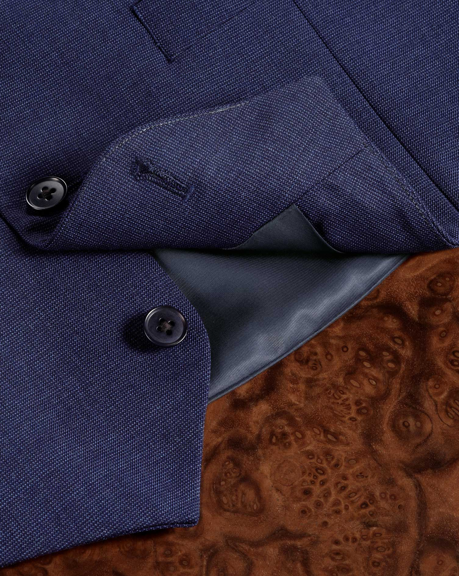Indigo end-on-end business suit waistcoat