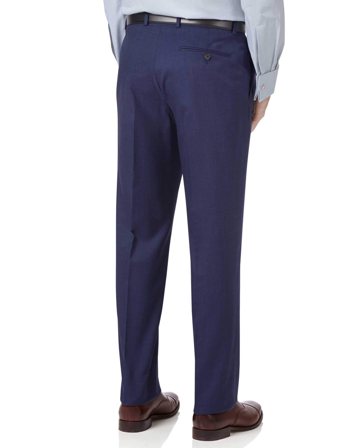 Indigo slim fit hairline business suit pants