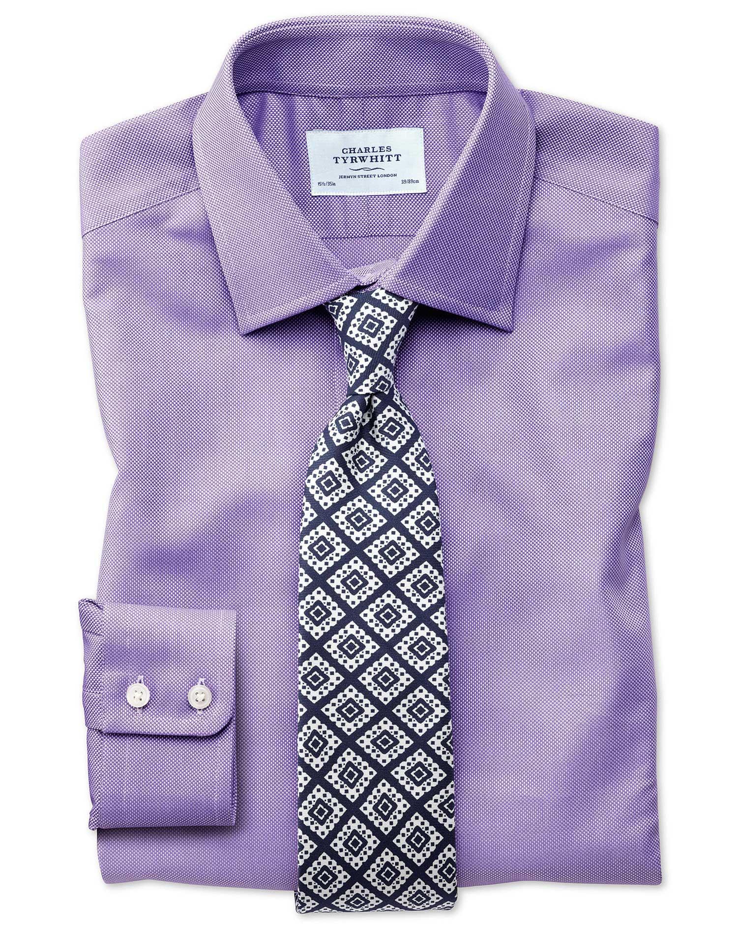 Extra slim fit egyptian cotton royal oxford lilac shirt for Extra slim tuxedo shirt