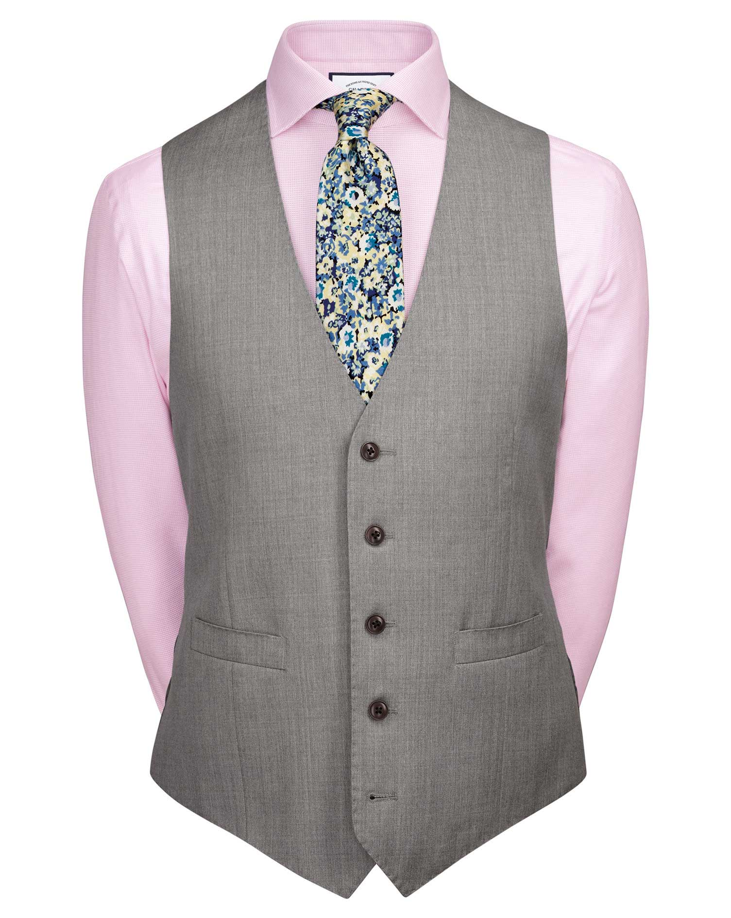 Silver adjustable fit Italian suit vests