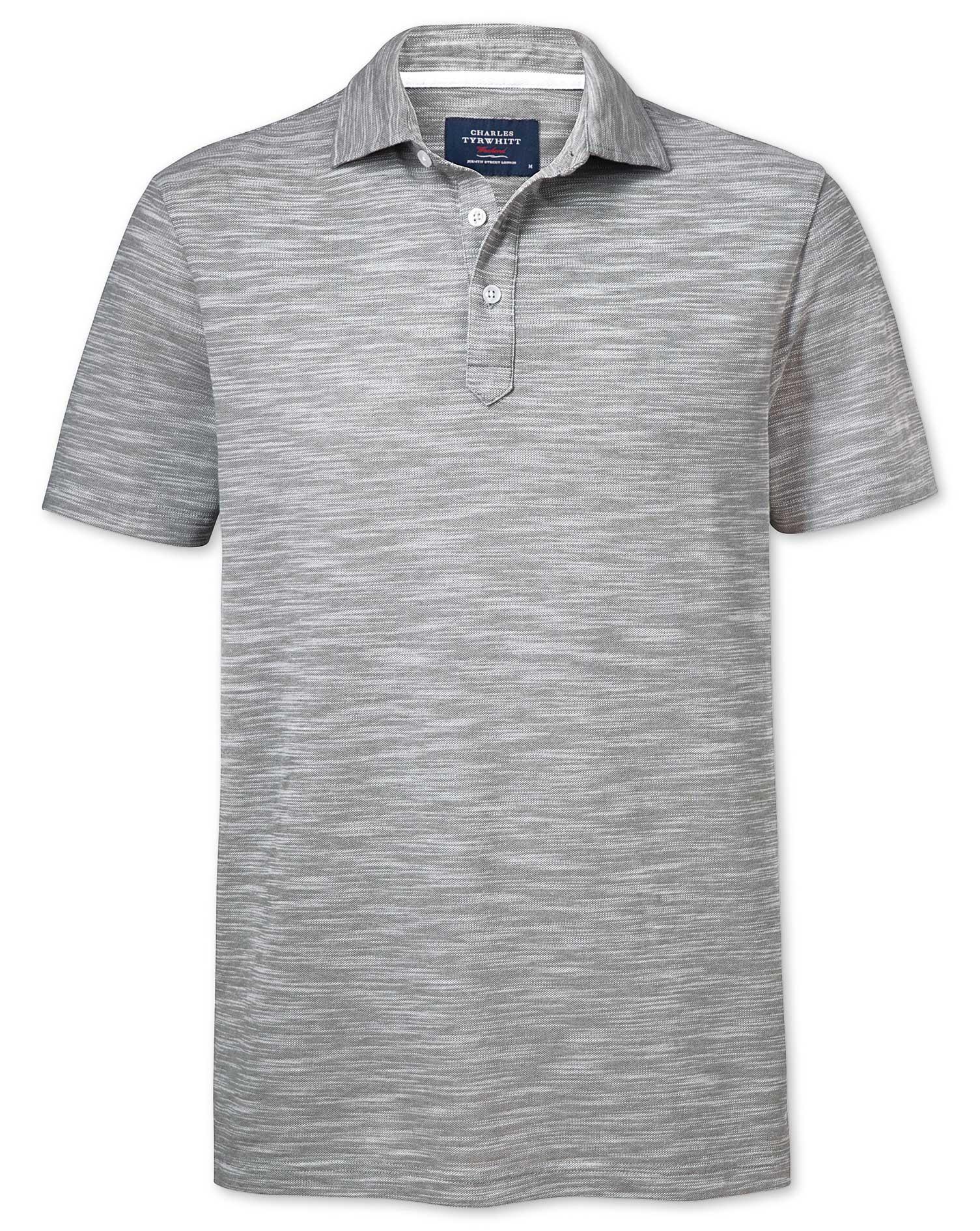 Grey Cotton Polo Size XS by Charles Tyrwhitt