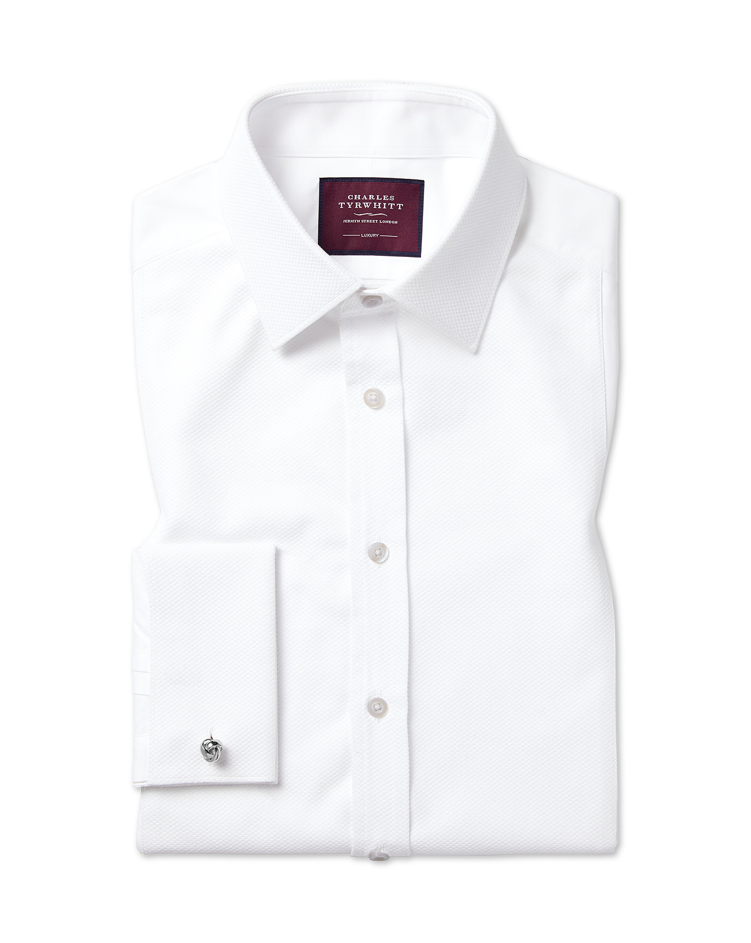 Slim Fit Luxury Marcella Bib Front White Evening Egyptian Cotton Formal Shirt Double Cuff Size 17/37