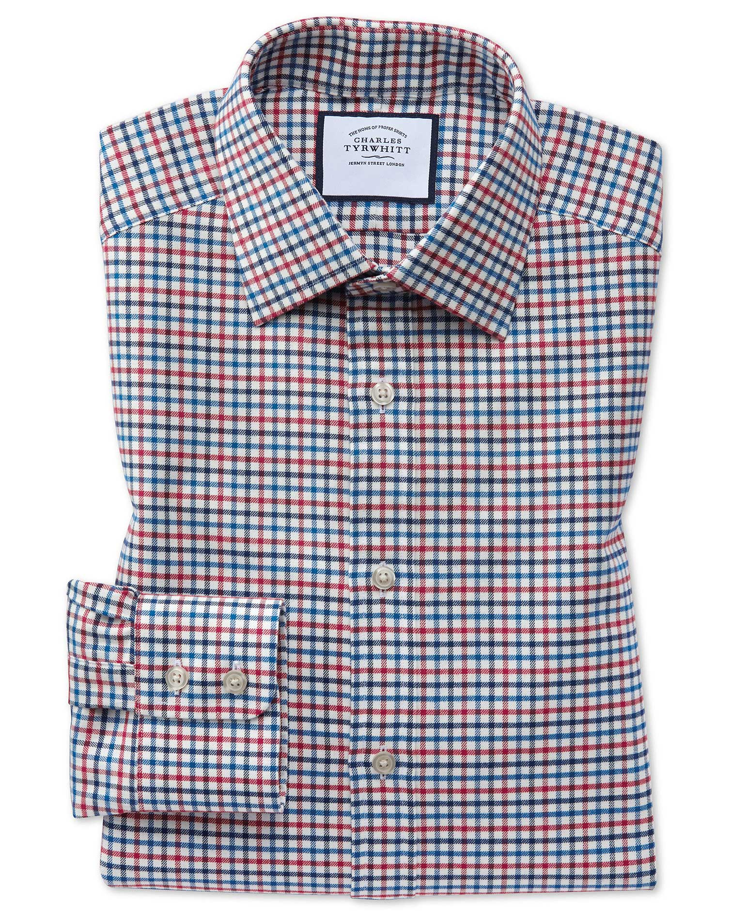 c5004212 Classic fit red and blue country check shirt | Charles Tyrwhitt