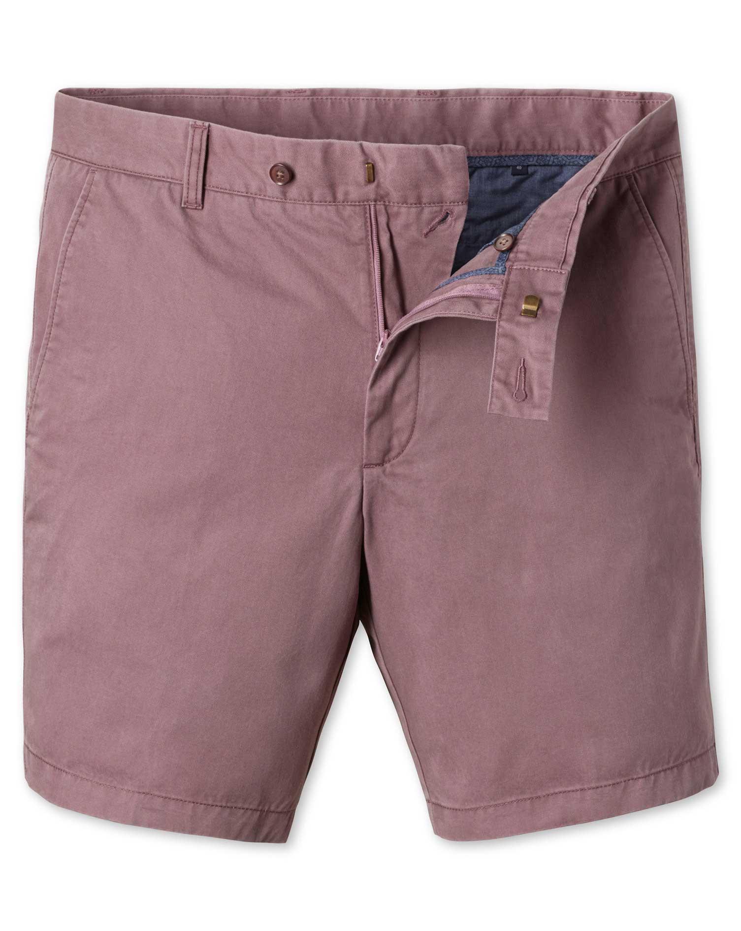 Light Pink Chino Cotton Shorts Size 30 by Charles Tyrwhitt