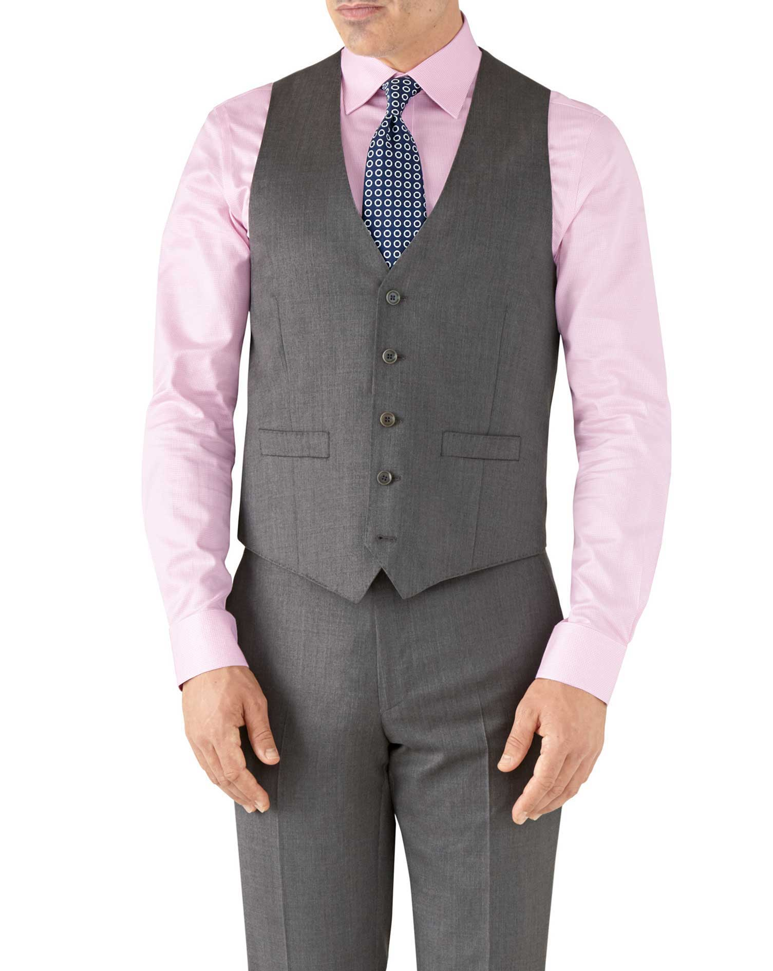 Grey adjustable fit Italian suit vest