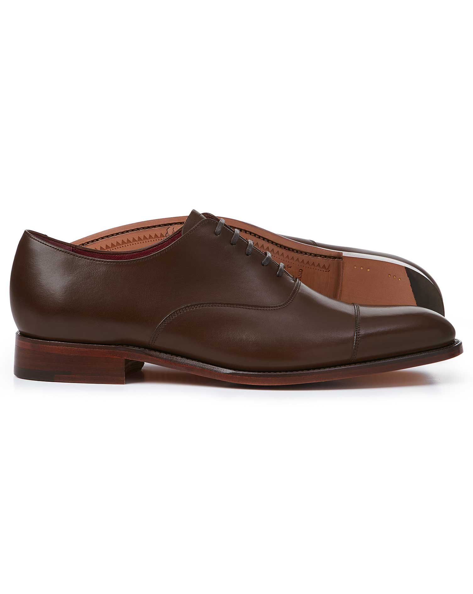 Leather Chocolate Made In England Oxford Flex Sole Shoes