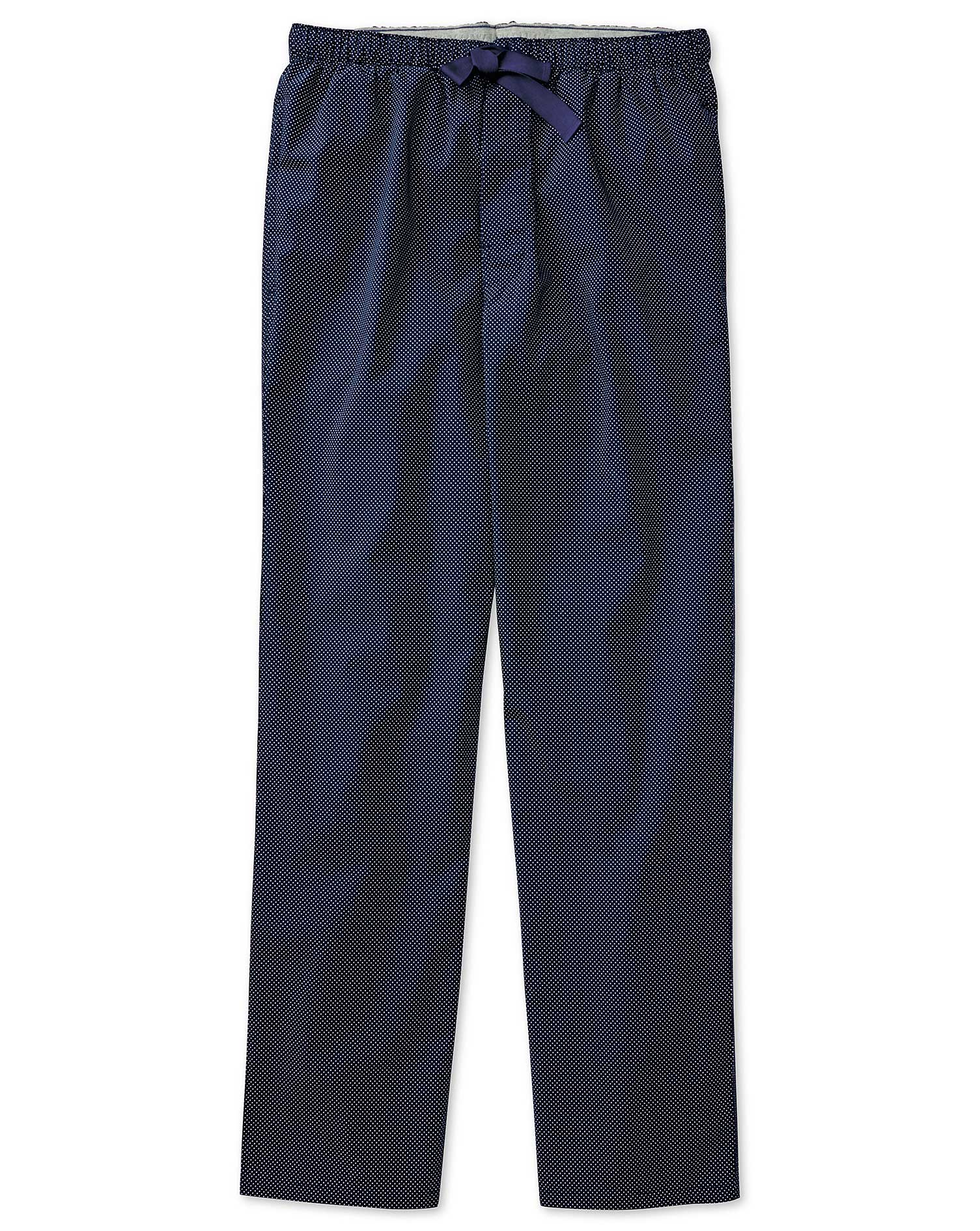 Navy Dot Cotton Pyjama Trousers Size XXL by Charles Tyrwhitt