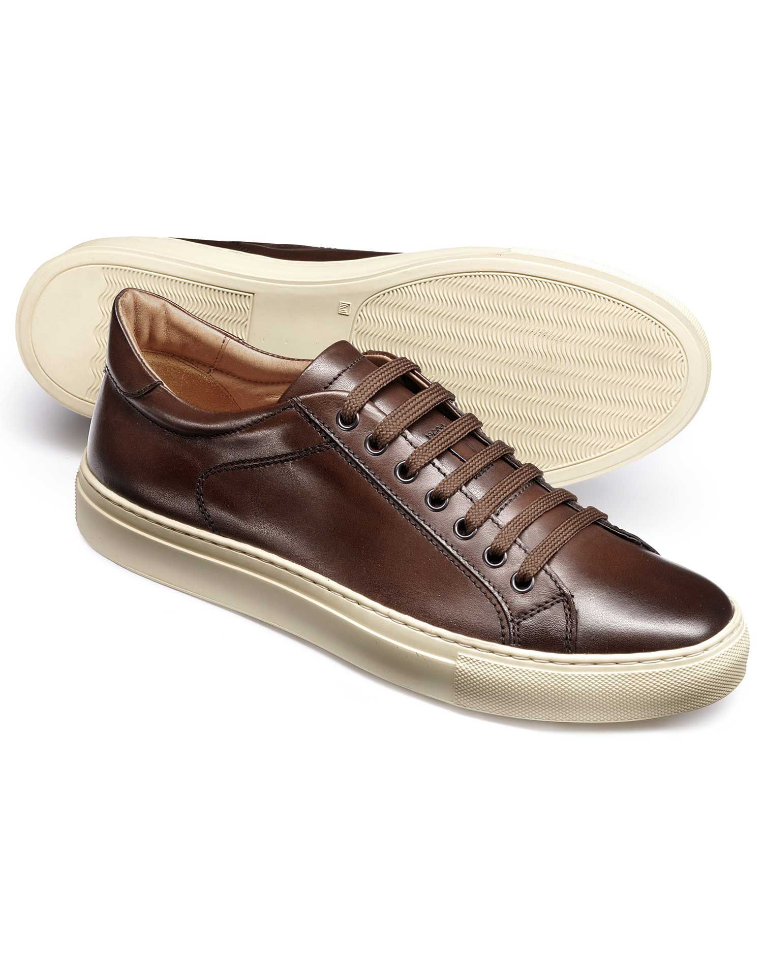 Brown Tutwell Trainers Size 8 R by Charles Tyrwhitt
