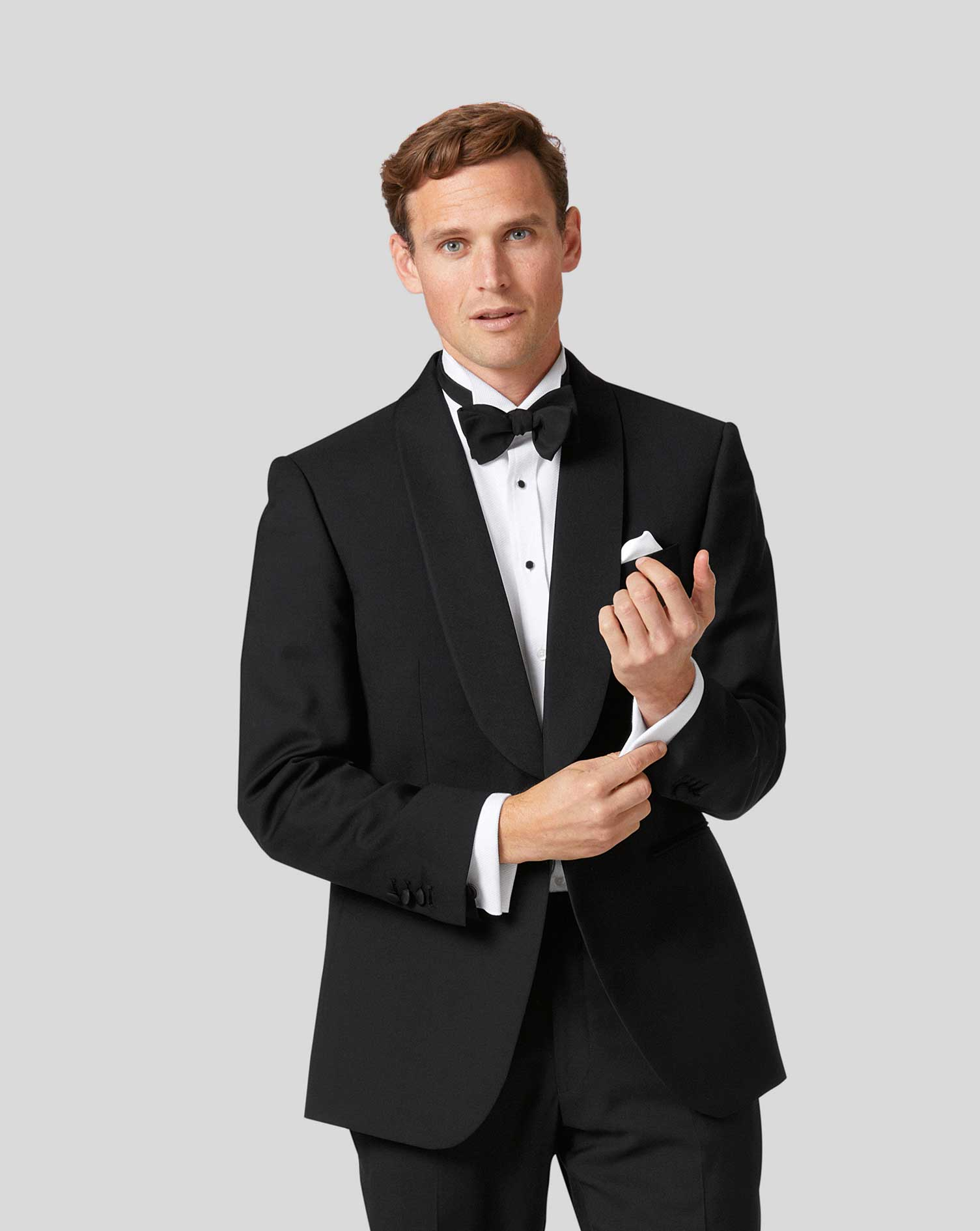Wool Black Classic Fit Shawl Collar Tuxedo Jacket