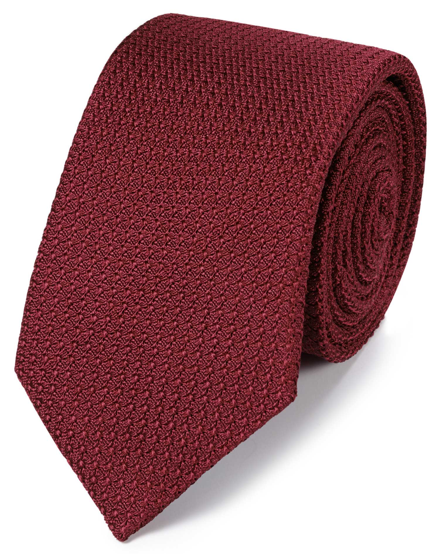cravate rouge fonc en luxueuse grenadine de soie italienne charles tyrwhitt. Black Bedroom Furniture Sets. Home Design Ideas