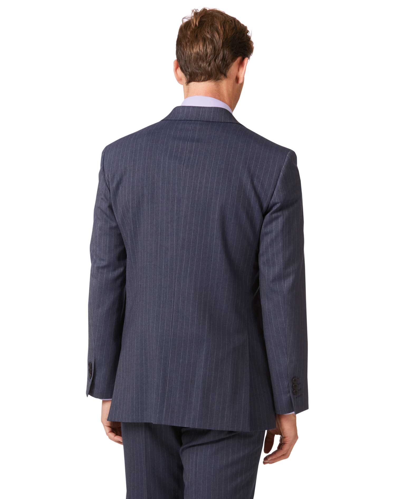 Airforce stripe classic fit Panama business suit jacket