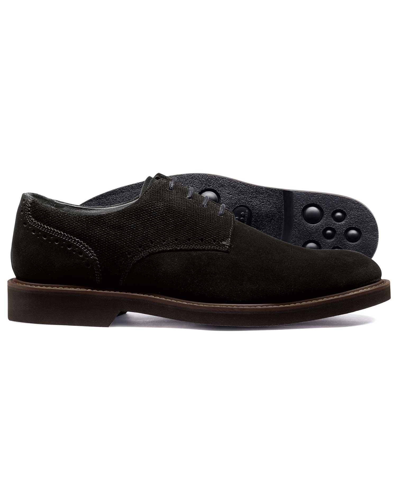 Black Extra Lightweight Derby Shoe Size 13 R by Charles Tyrwhitt