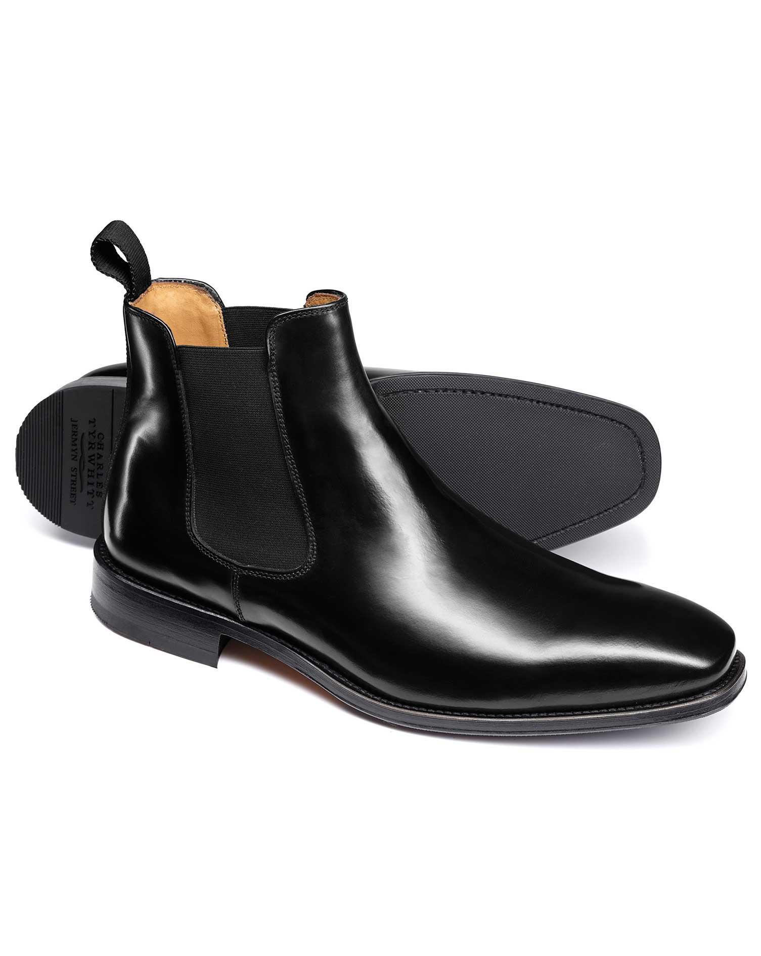 Black Chelsea Boot Size 7 R by Charles Tyrwhitt