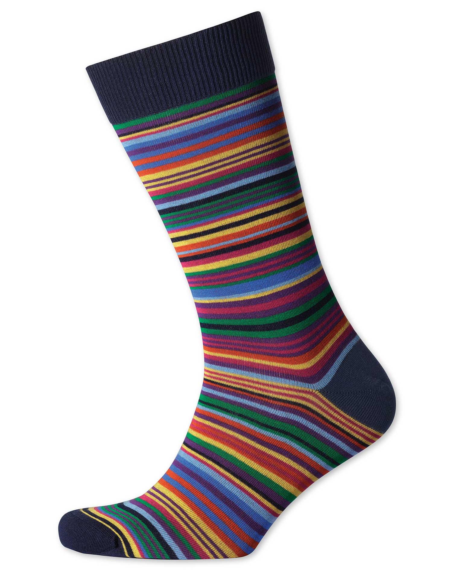 Multi Stripe Socks Size Medium by Charles Tyrwhitt