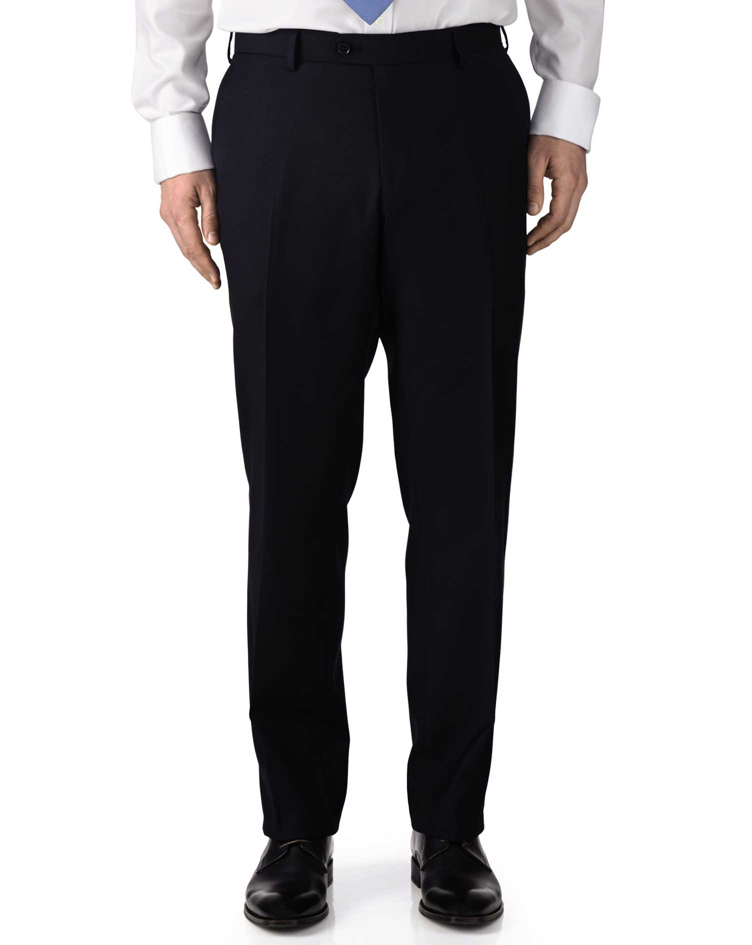 navy extra slim fit twill business suit trousers charles tyrwhitt. Black Bedroom Furniture Sets. Home Design Ideas