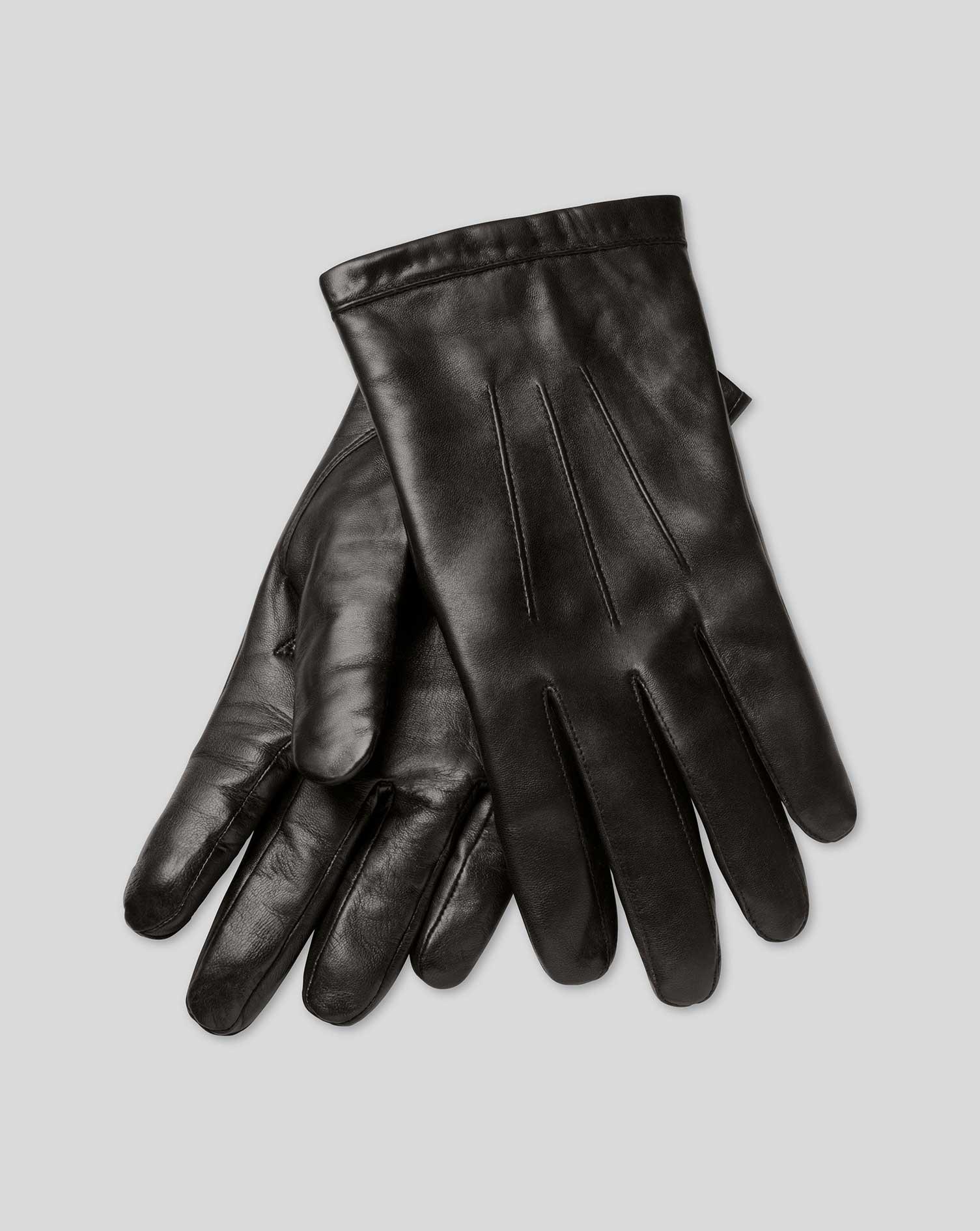 Black or brown leather gloves - Black Leather Gloves
