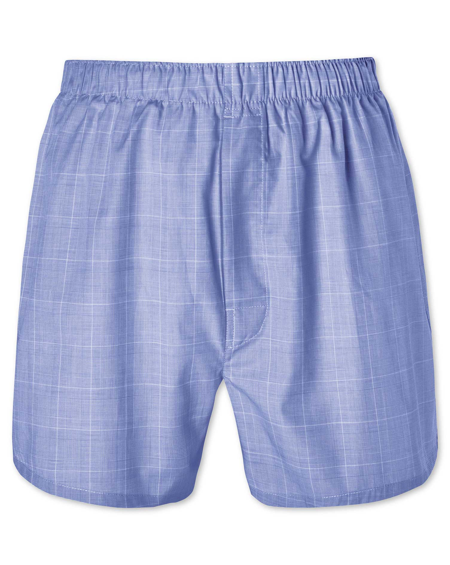 Blue Prince Of Wales Woven Boxers Size XXL by Charles Tyrwhitt