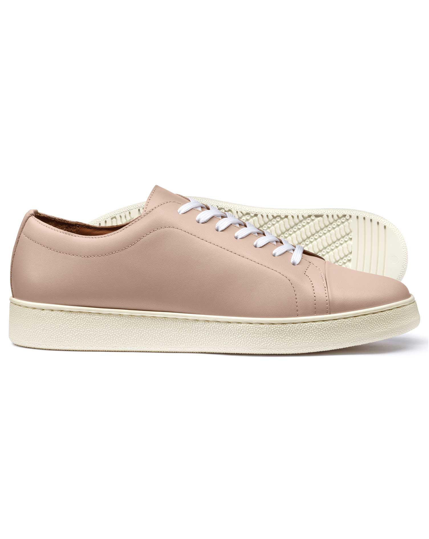 Light Pink Trainers Size 10 R by Charles Tyrwhitt
