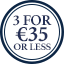 Accessories Multibuy Roundel - 3 for €35 or less