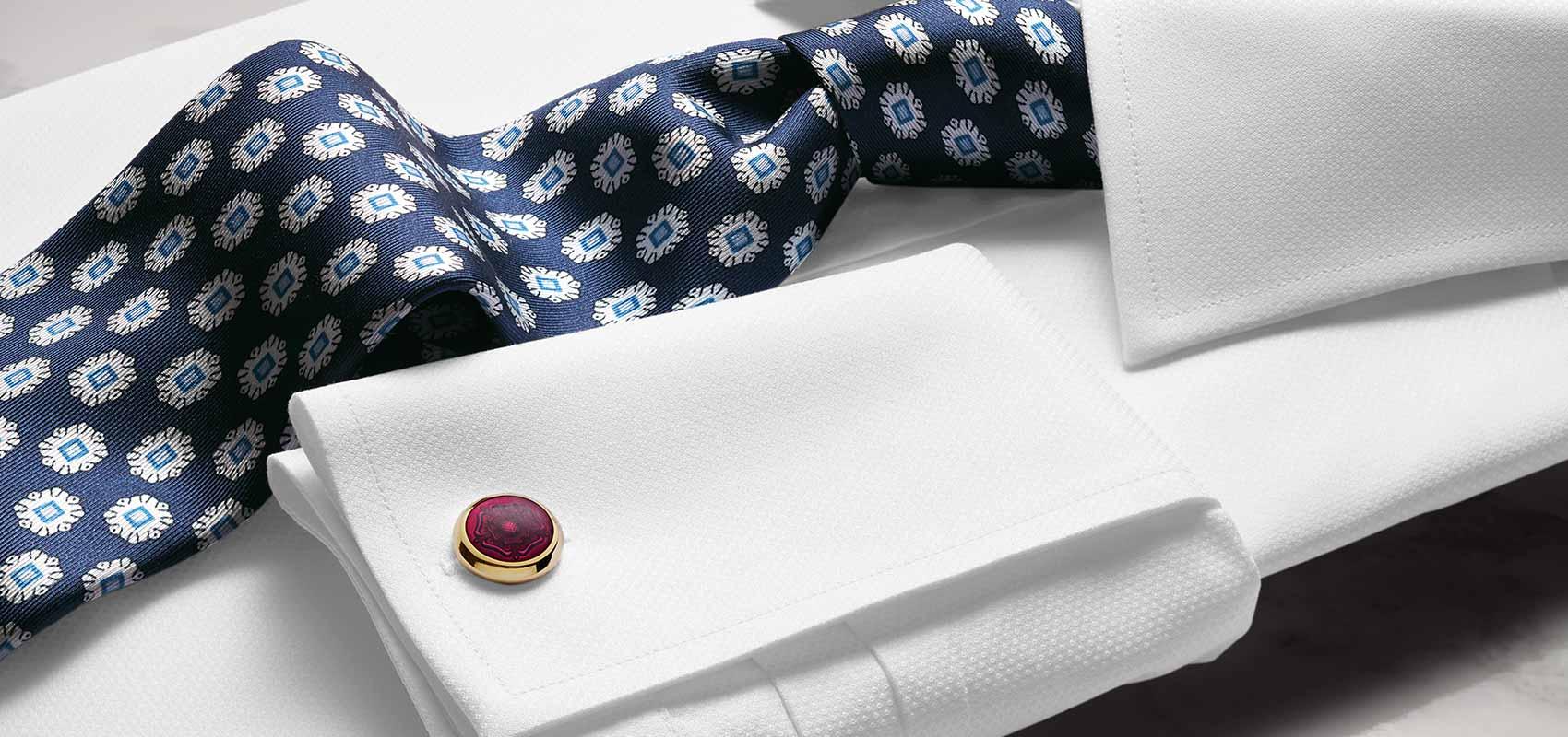 Charles Tyrwhitt navy and white ties