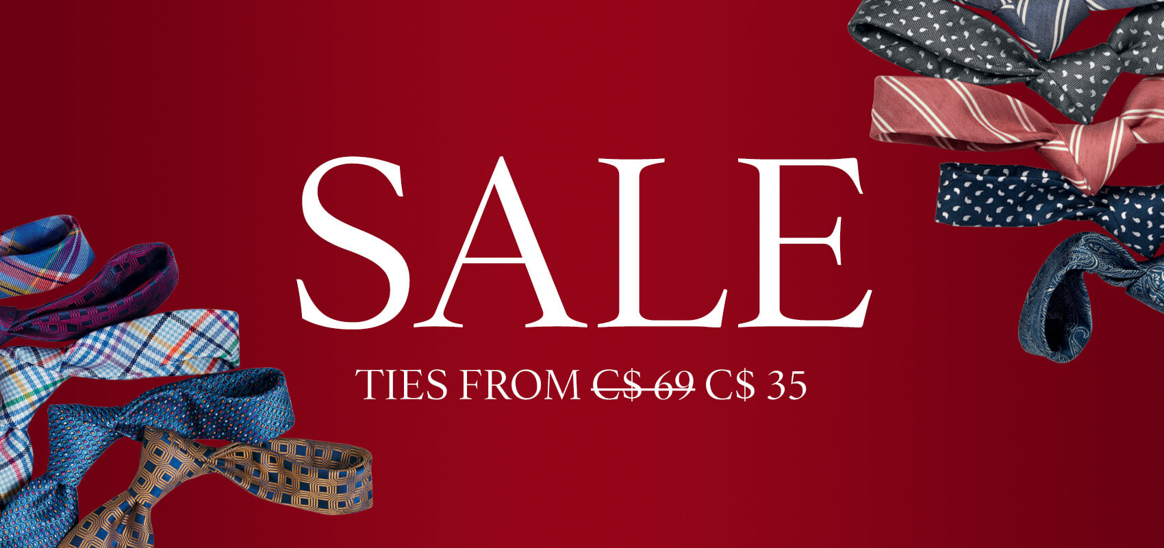 Sale ties from $35