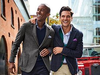 Two men in business casual attire