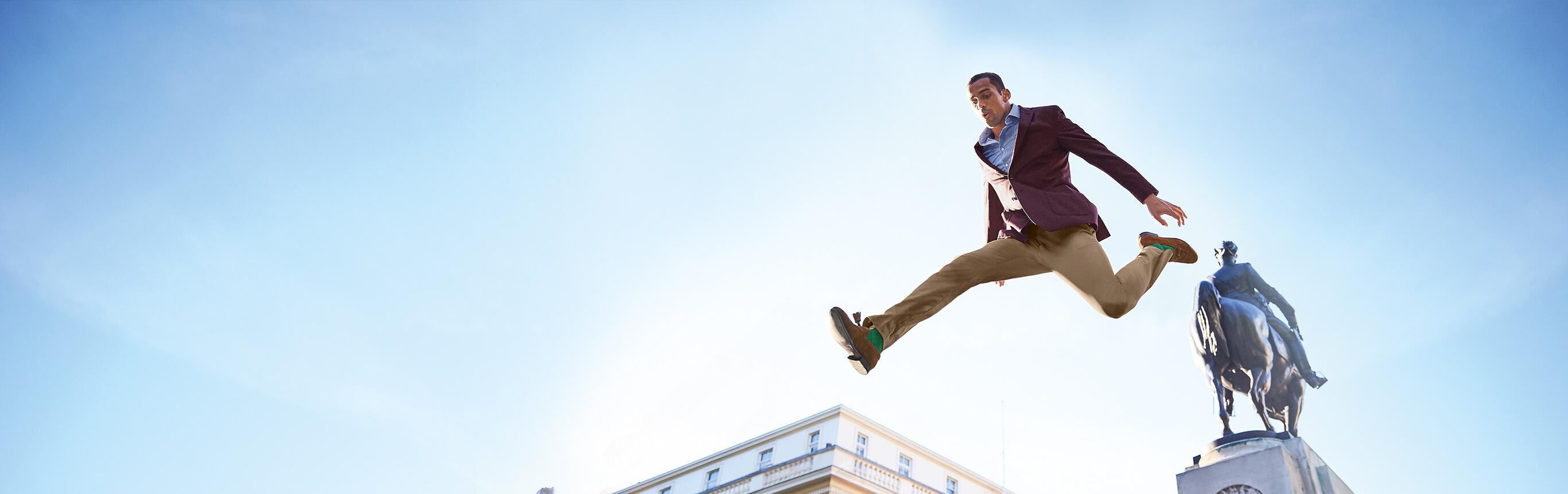 Image of model jumping